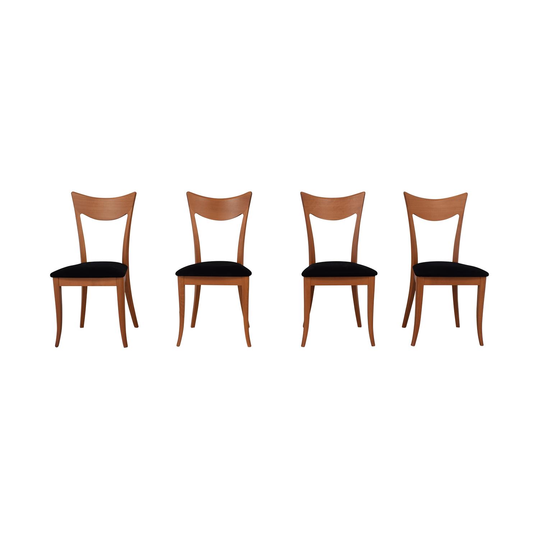 SA A. Sibau Cherry Velvet Modern Chairs / Chairs
