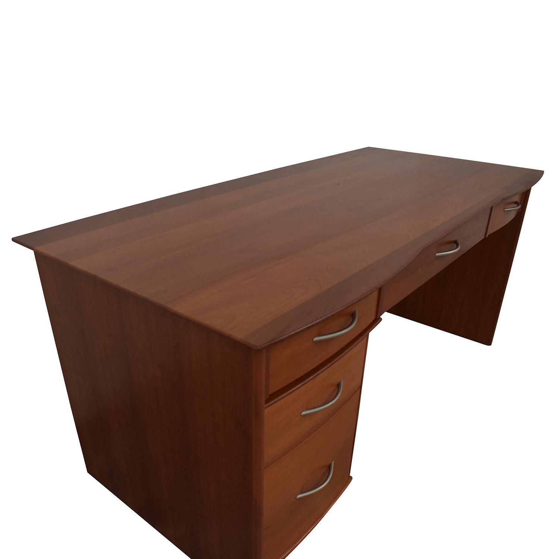 buy Modern Four-Drawer Desk  Home Office Desks