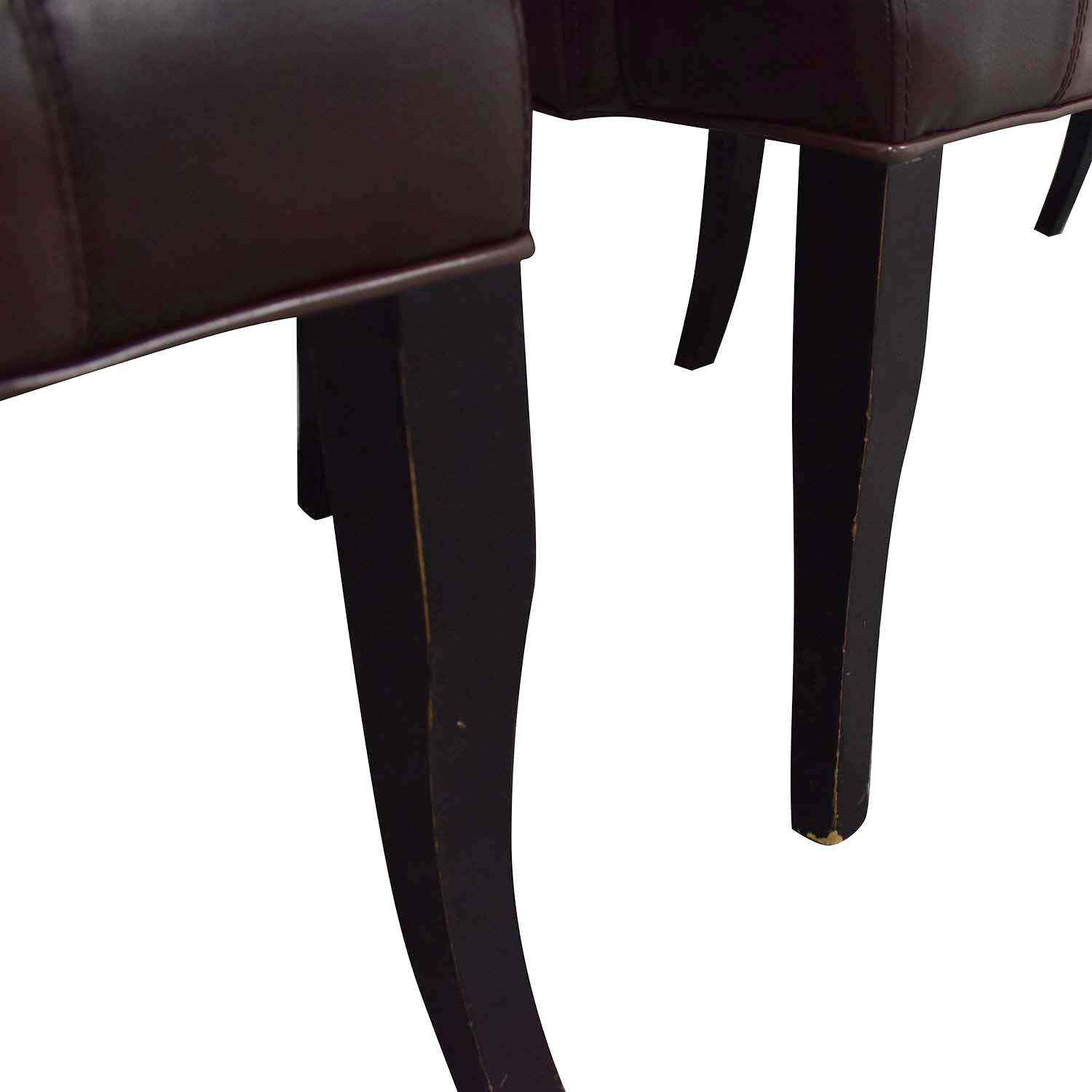 buy Bloomingdale's Brown Leather Dining Chairs Bloomingdale's Chairs
