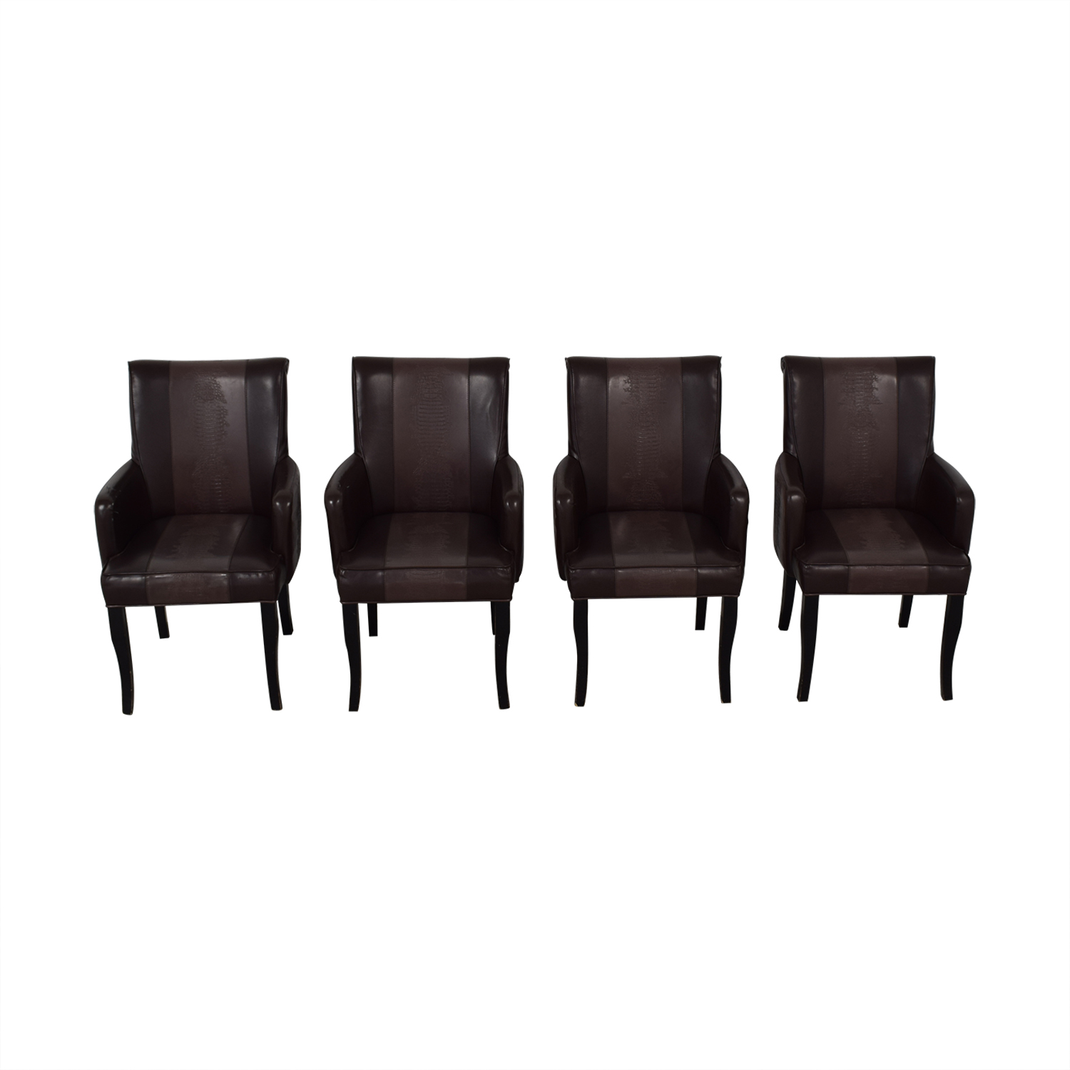 Bloomingdale's Bloomingdale's Brown Leather Dining Chairs Chairs