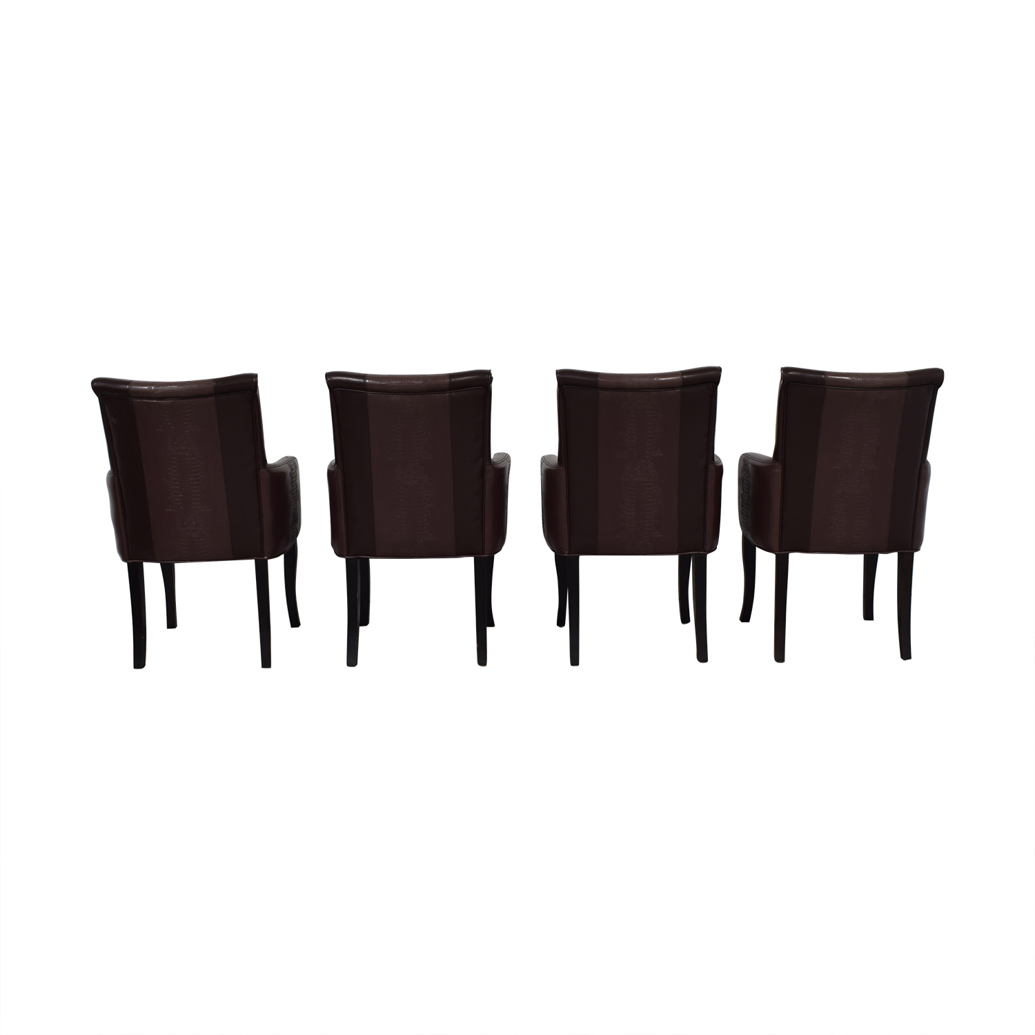 Bloomingdale's Brown Leather Dining Chairs / Chairs