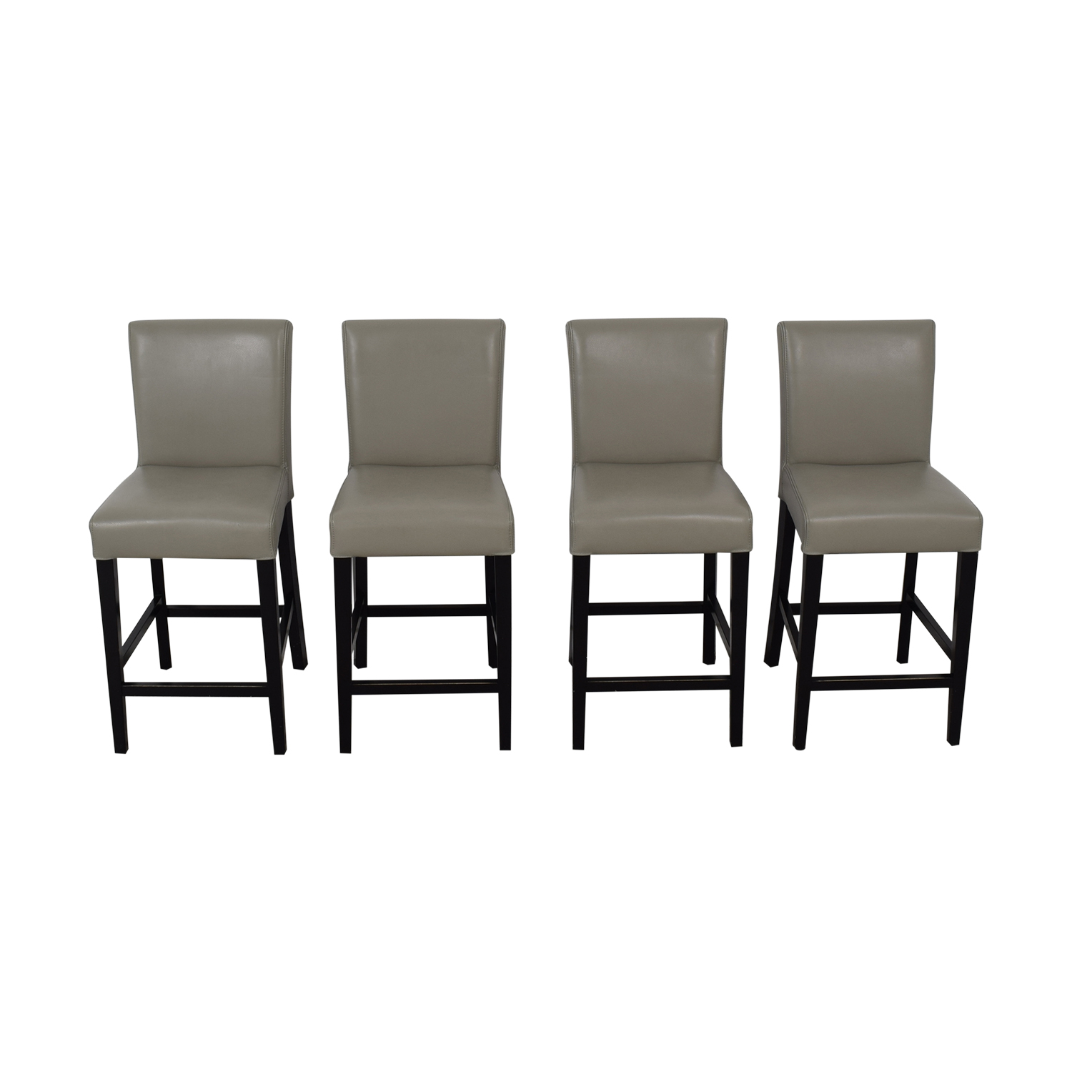 Grey Leather Stools for sale