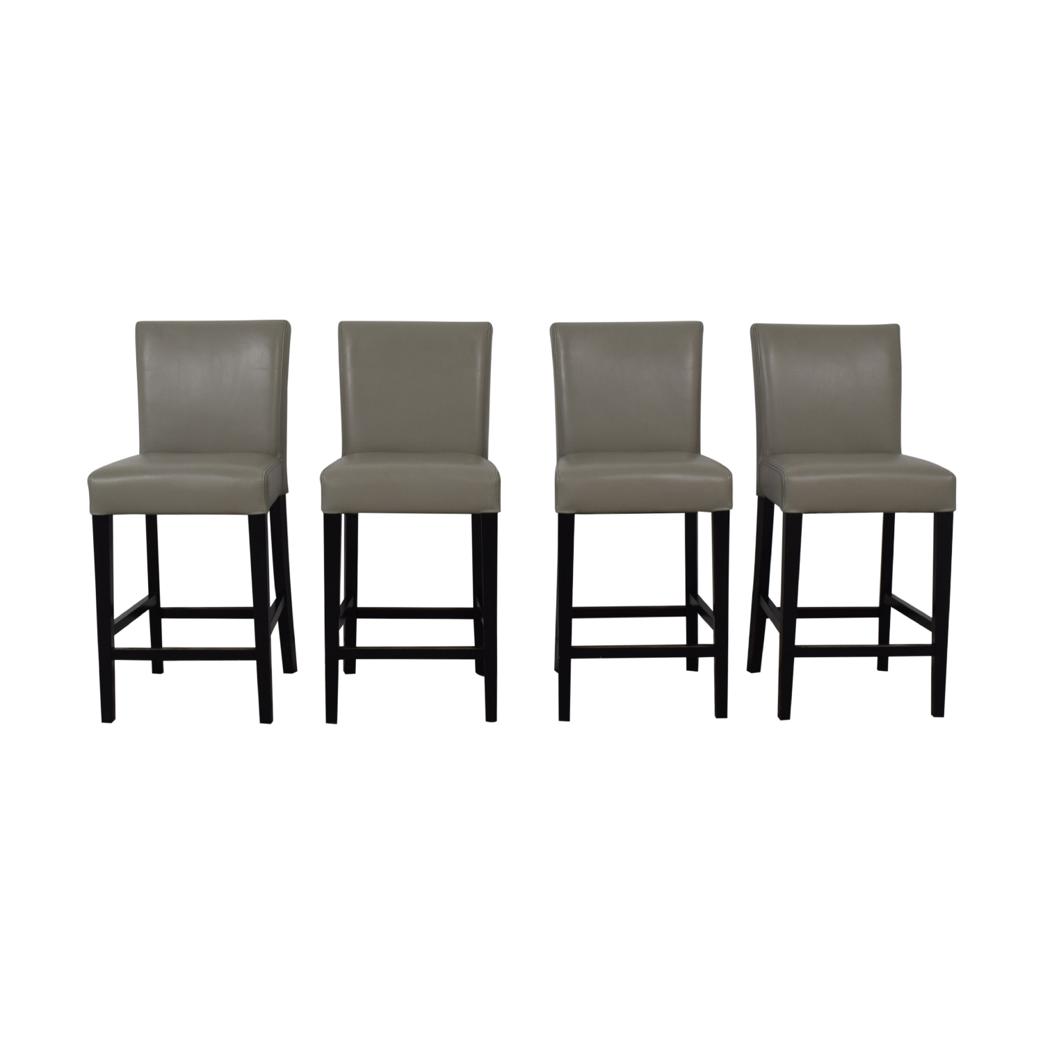 Grey Leather Stools second hand