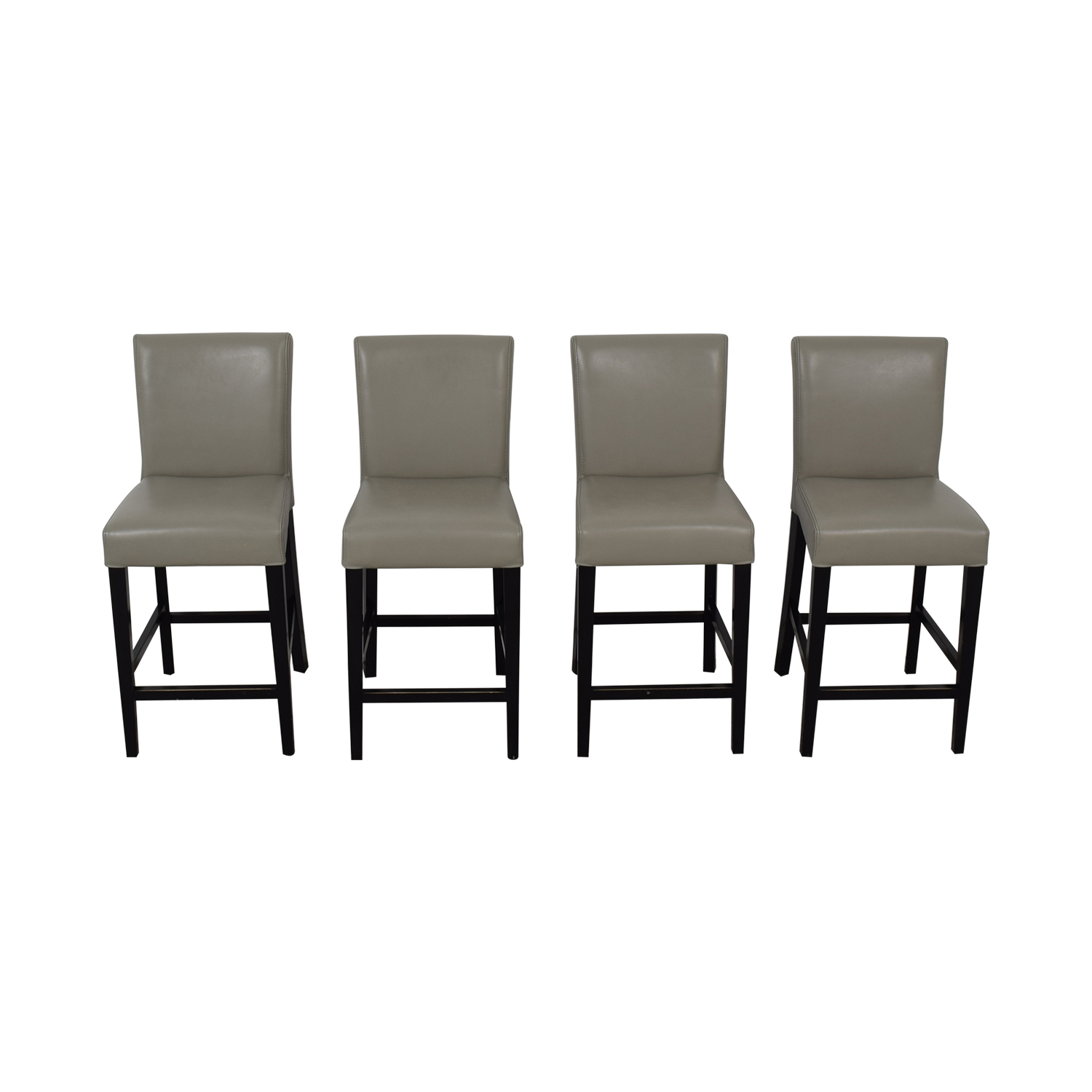 buy Grey Leather Stools  Chairs