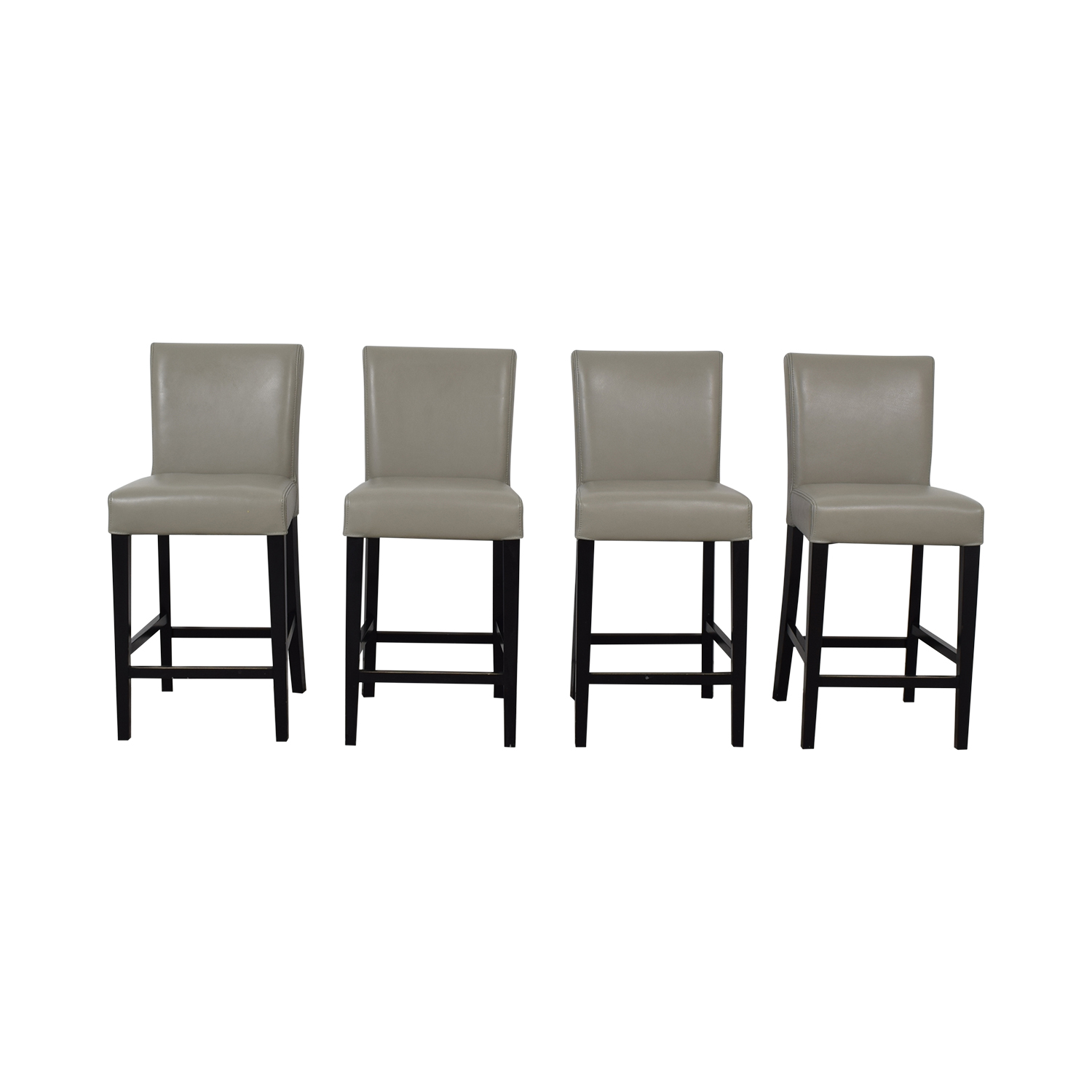 Grey Leather Stools Chairs