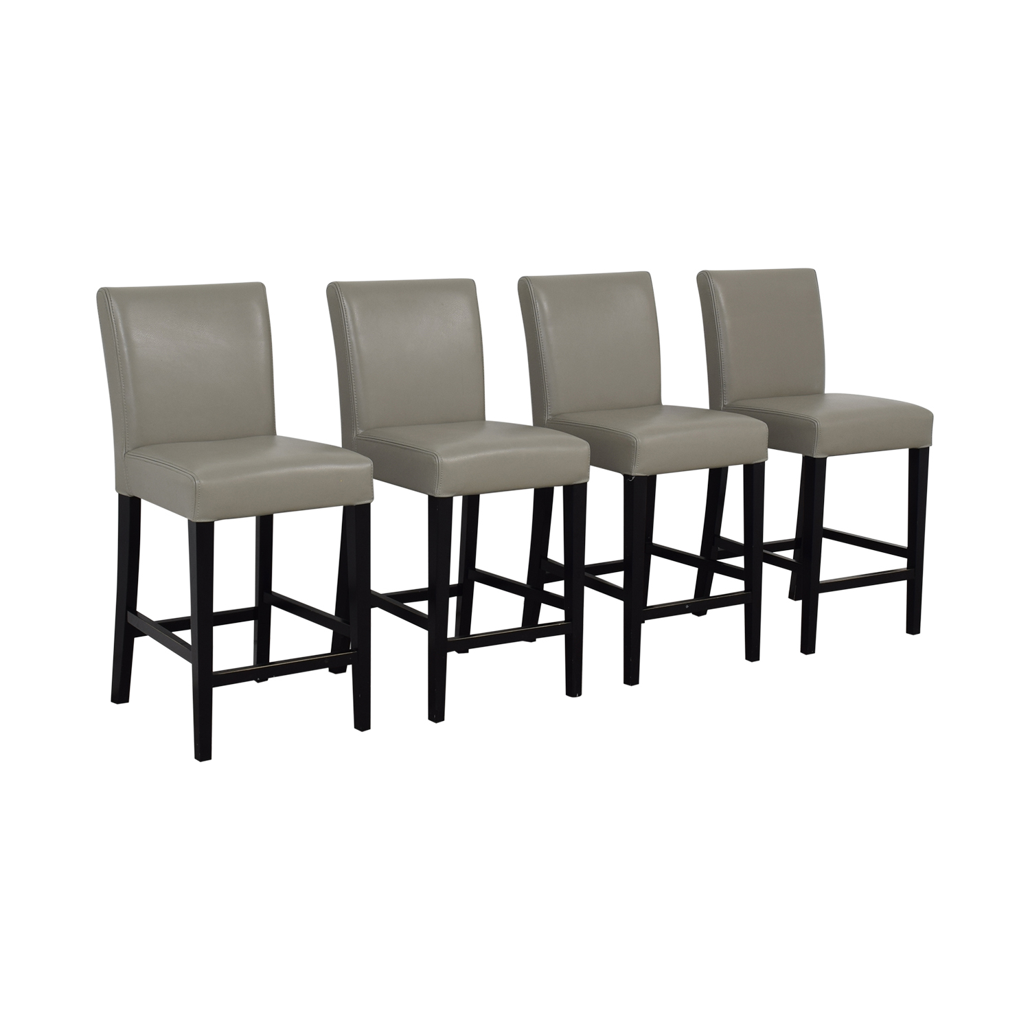 Grey Leather Stools on sale