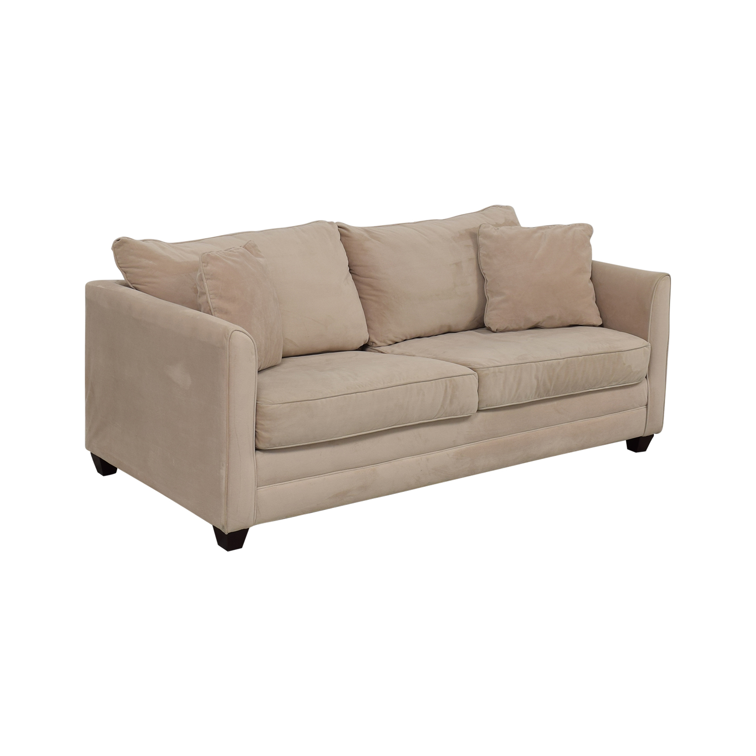 Martha Stewart Home Martha Stewart Queen Sleeper Sofa light brown