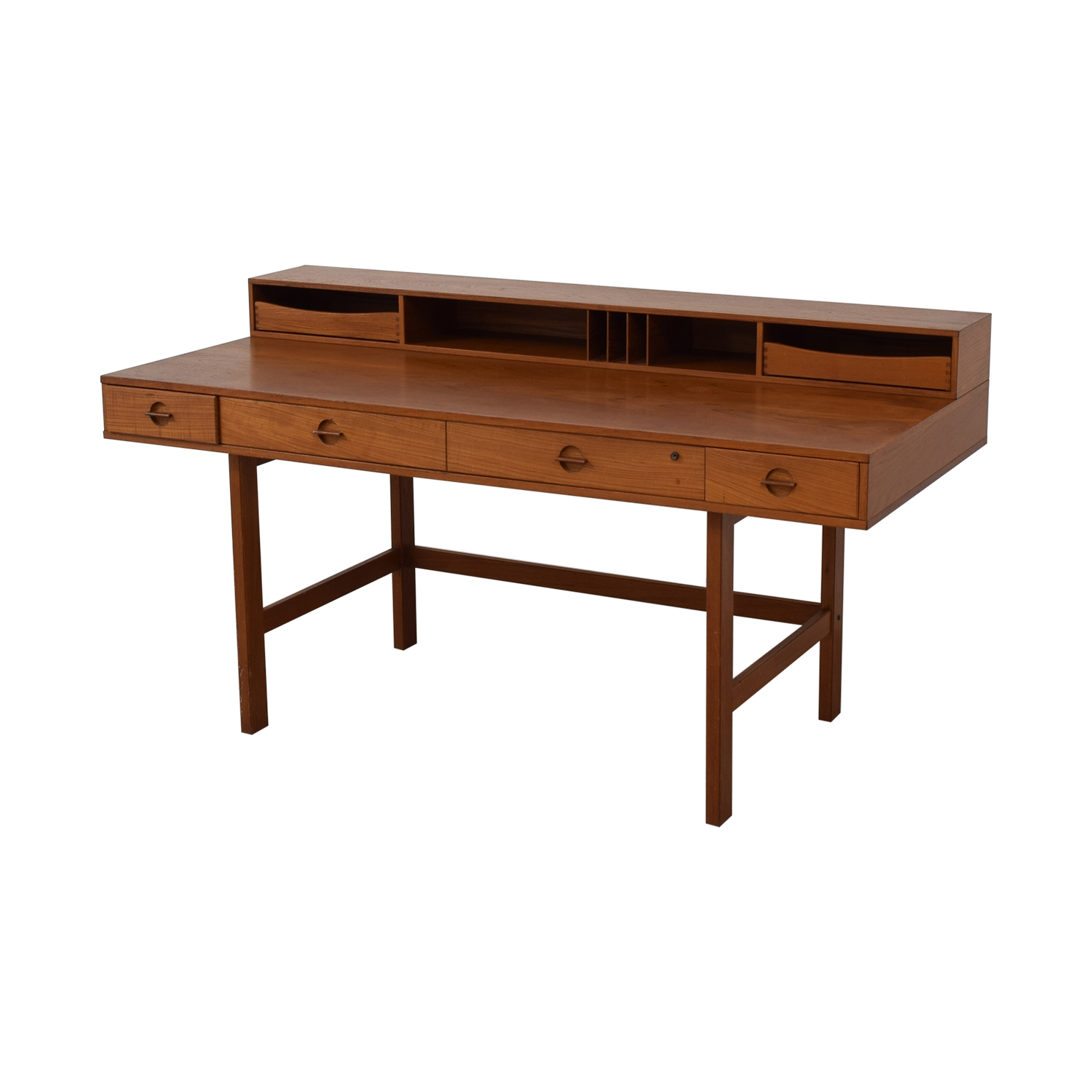 shop Peter Lovig Nielsen By Jens Quistgaard Flip-Top Desk in Teak Løvig Utility Tables