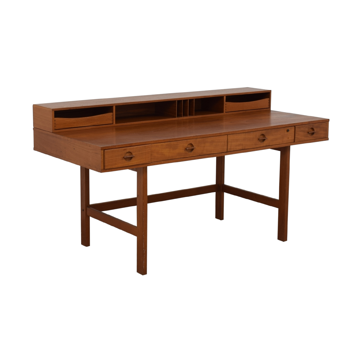 Peter Lovig Nielsen By Jens Quistgaard Flip-Top Desk in Teak / Utility Tables