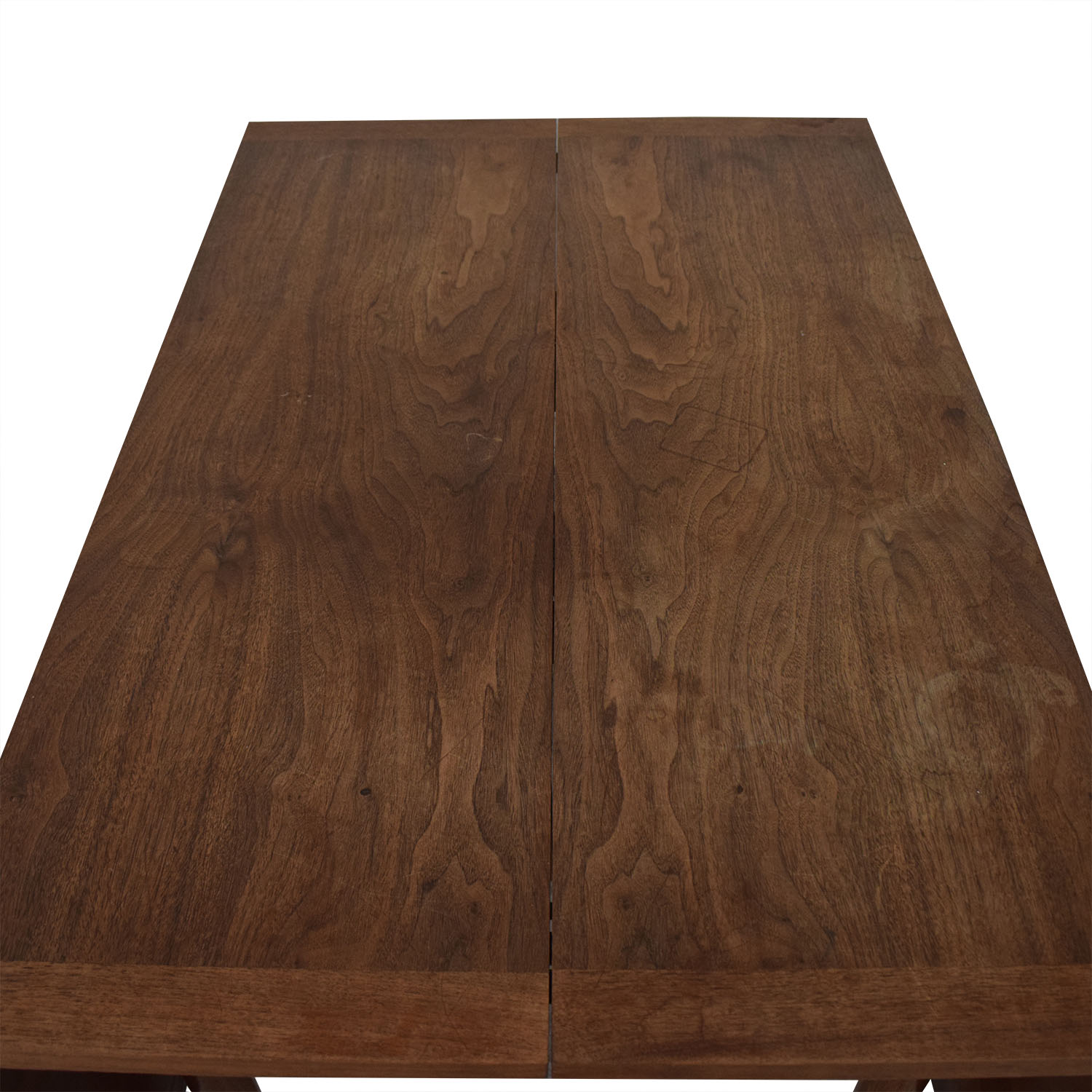 Mid-Century Drop Leaf Extendable Table brown