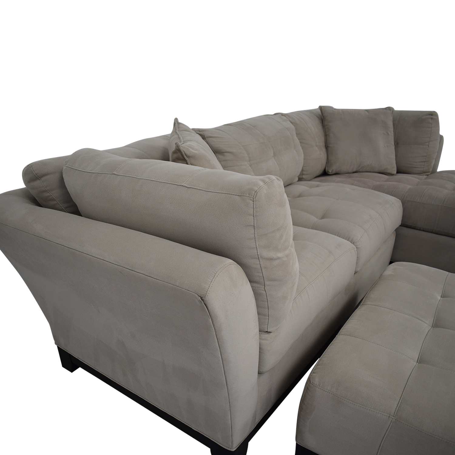 Raymour & Flanigan Raymour & Flanigan Sectional Sofa with Chaise and Cocktail Ottoman coupon