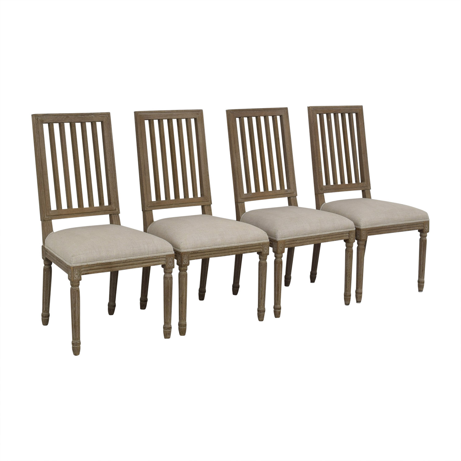 Restoration Hardware Restoration Hardware Spindle Back Dining Chairs GRAY