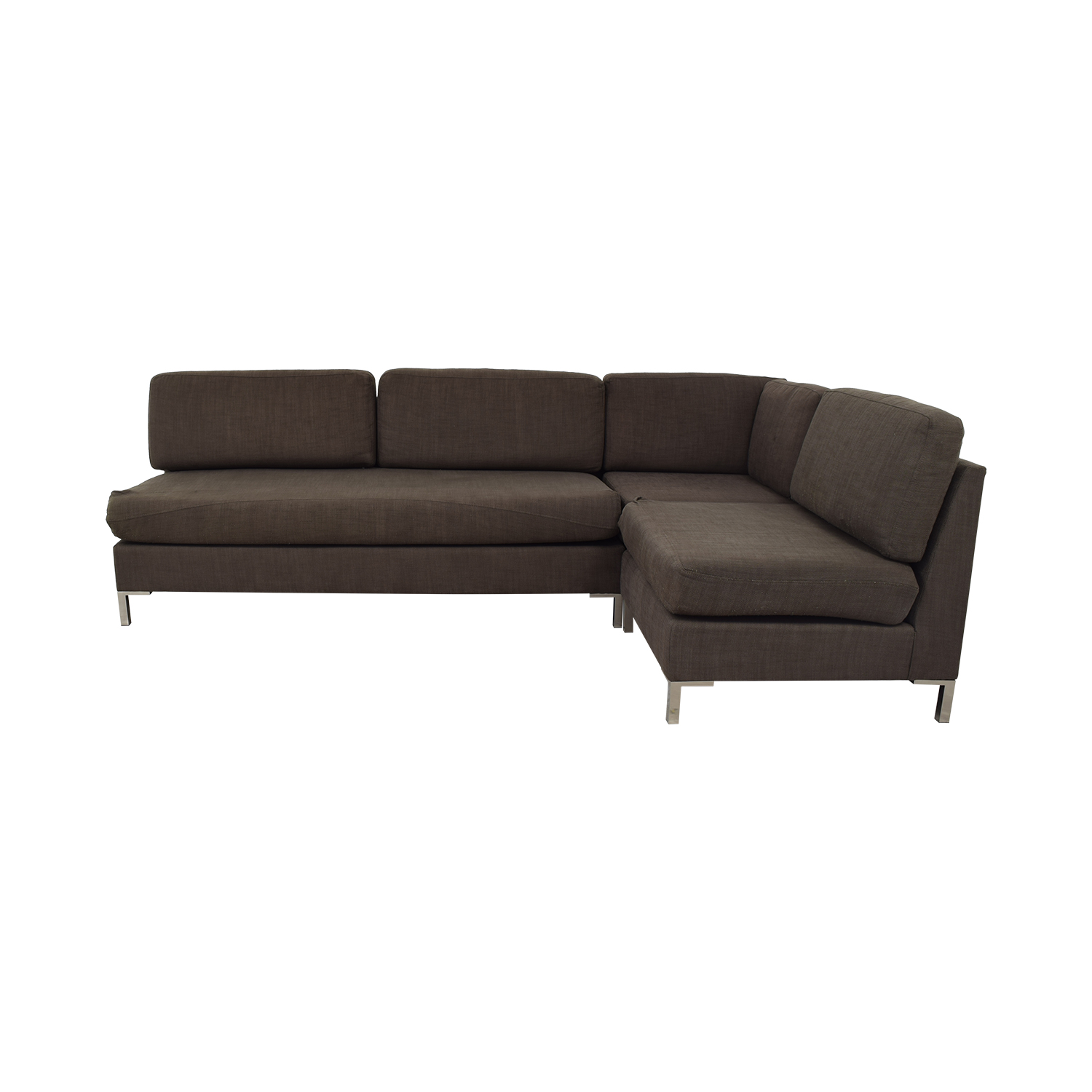 West Elm Dark Brown Sectional Sofa West Elm