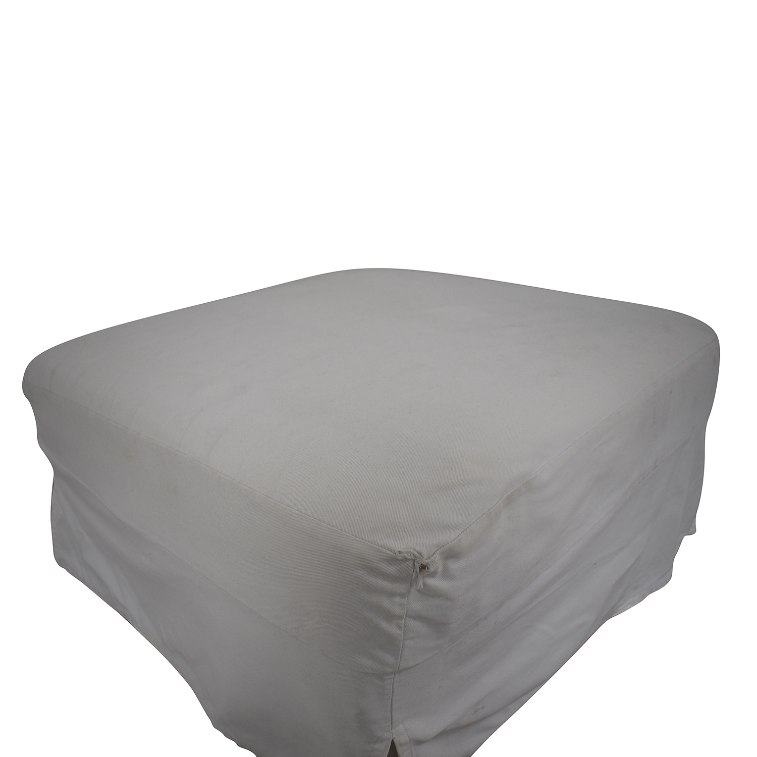 West Elm West Elm Slipcovered Ottoman discount