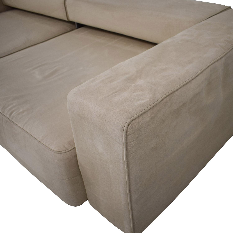 B&T Design B&T Design Microfiber Pullout Sofa off white
