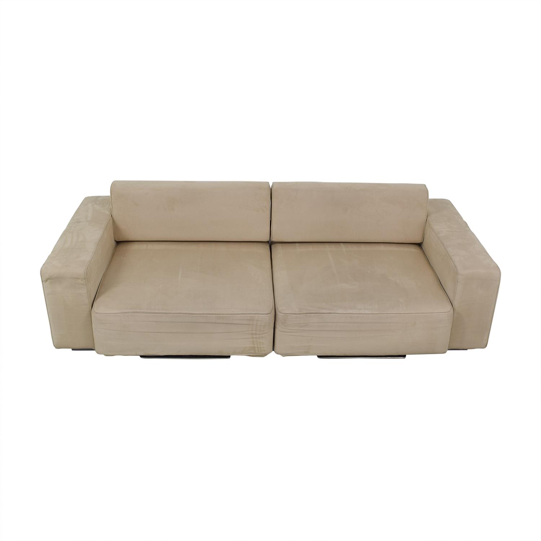 B&T Design B&T Design Microfiber Pullout Sofa