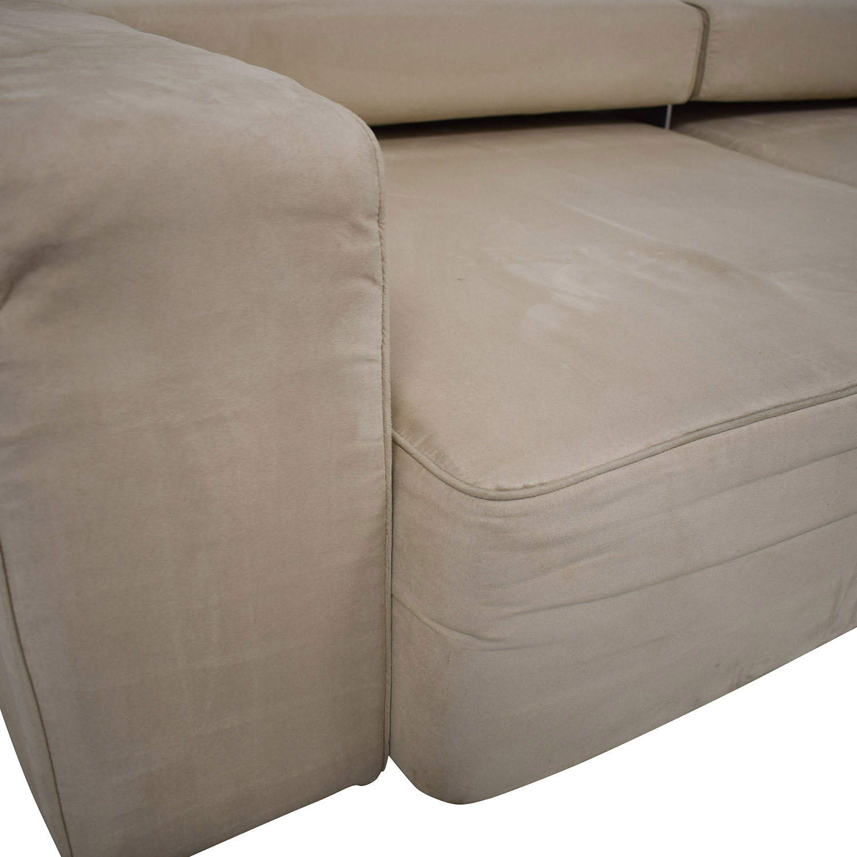 B&T Design Microfiber Pullout Sofa sale