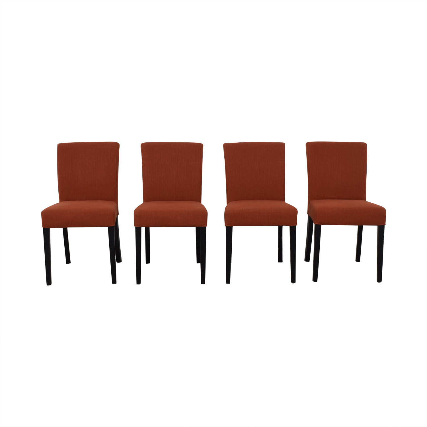 shop Crate & Barrel Lowe Persimmon Upholstered Dining Chairs Crate & Barrel