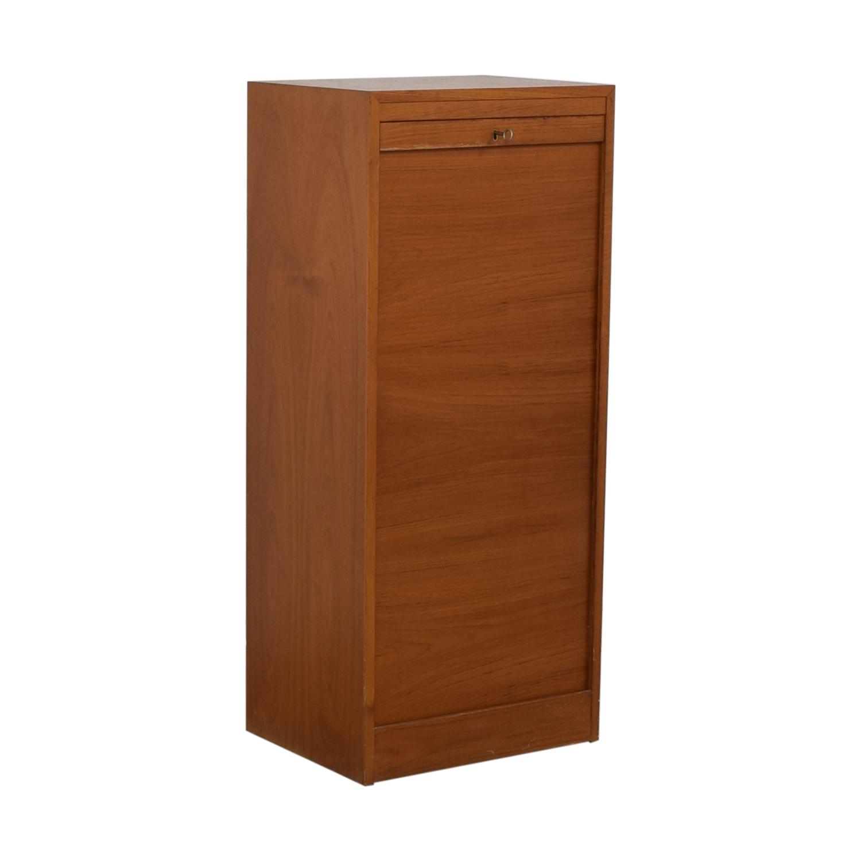 buy International Design Center Teak Danish Modern Filing Cabinet International Design Center Storage