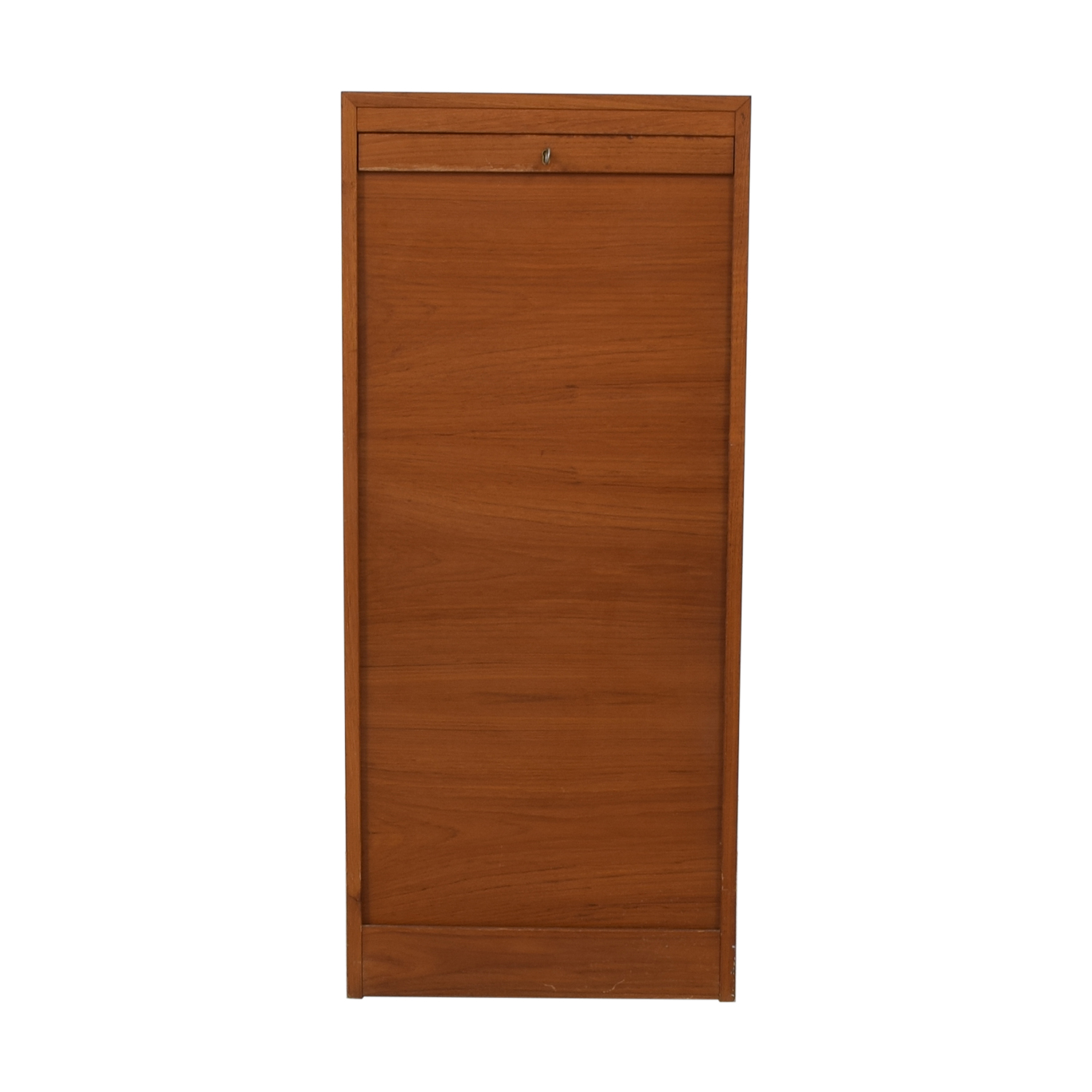 International Design Center Teak Danish Modern Filing Cabinet sale