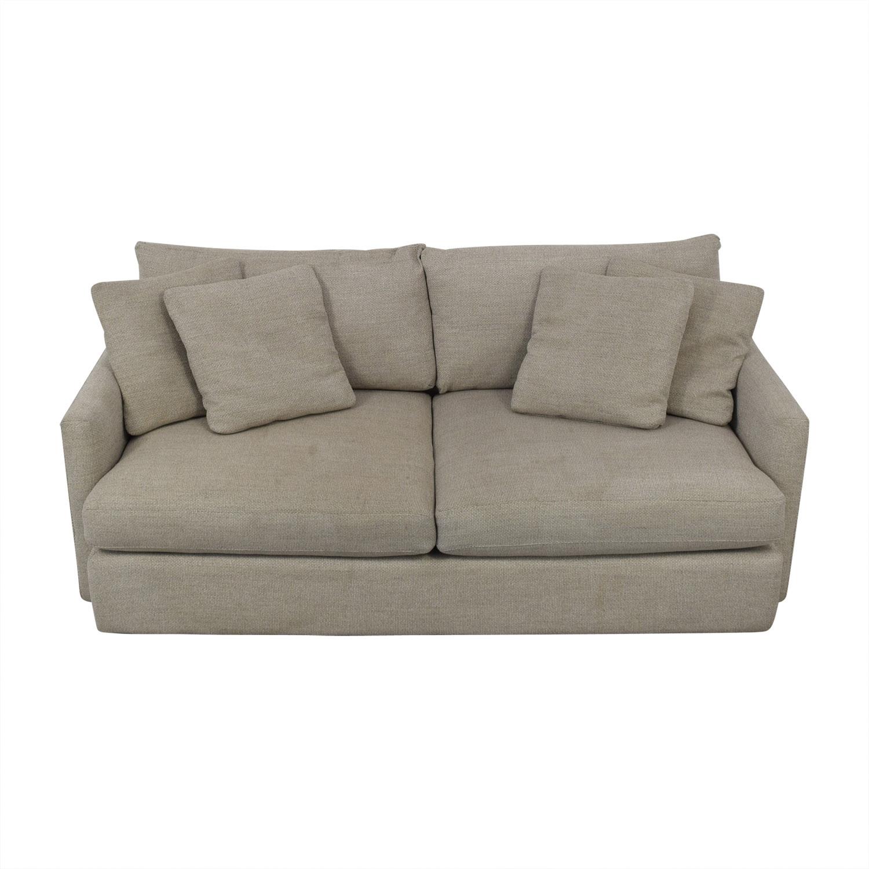 "Crate & Barrel Crate & Barrel Lounge II 93"" Sofa Sofas"