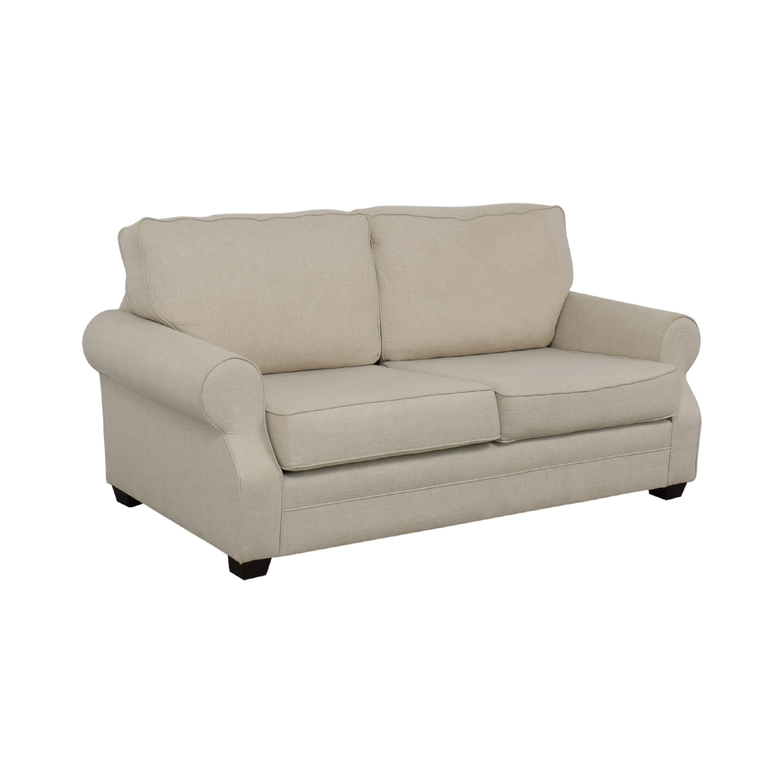 Groovy 78 Off Pottery Barn Pottery Barn Buchanan Roll Arm Upholstered Sofa Sofas Interior Design Ideas Ghosoteloinfo