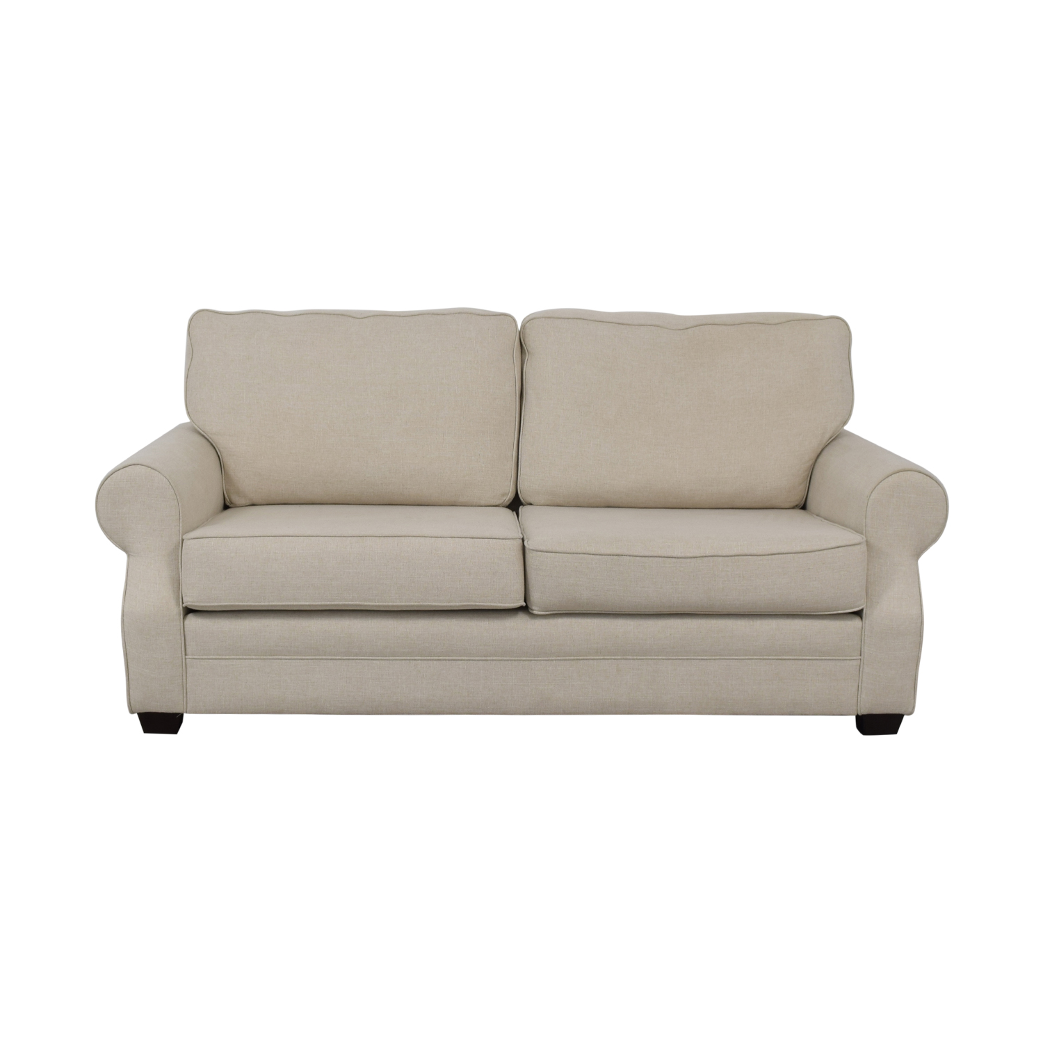 Pottery Barn Buchanan Roll Arm Upholstered Sofa sale
