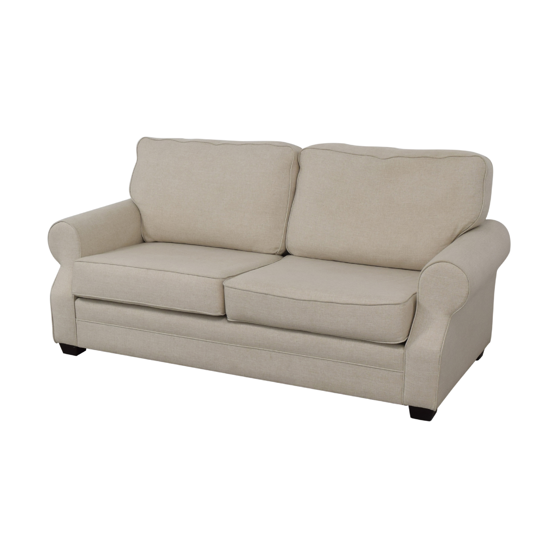 Pottery Barn Buchanan Roll Arm Upholstered Sofa sale