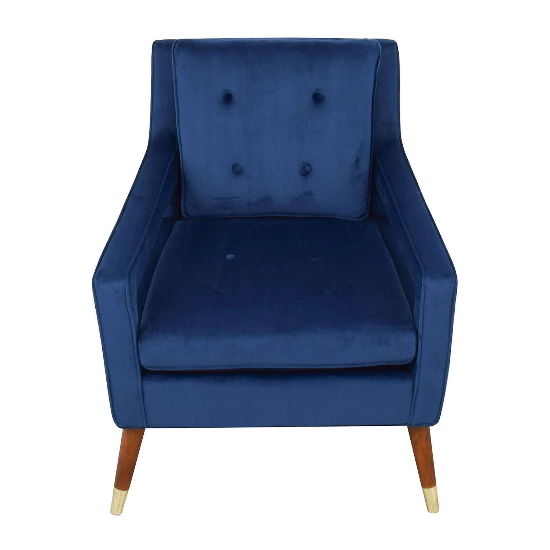 61 Off Tov Tov Furniture Draper Navy Velvet Chair Chairs