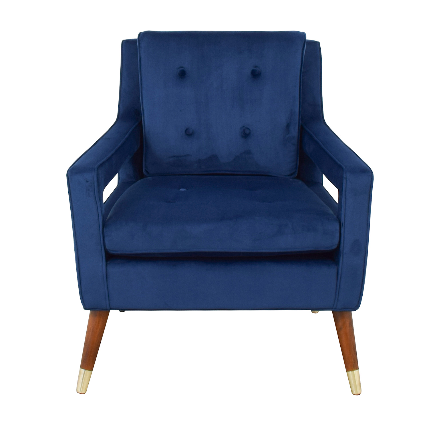 shop TOV Furniture Draper Navy Velvet Chair Tov Accent Chairs