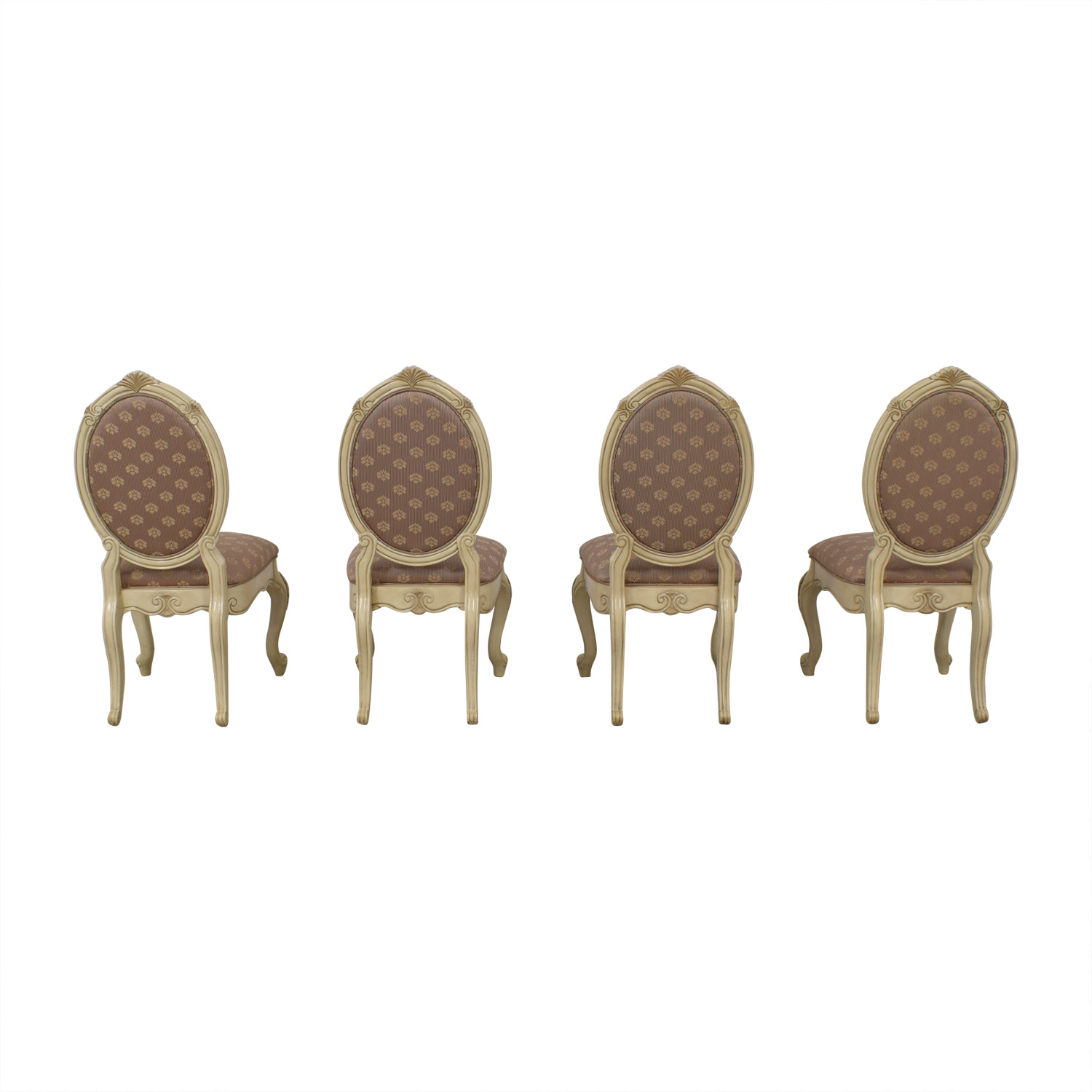 AICO AICO Michael Amini Set of Lavelle Blanc Side Chairs used
