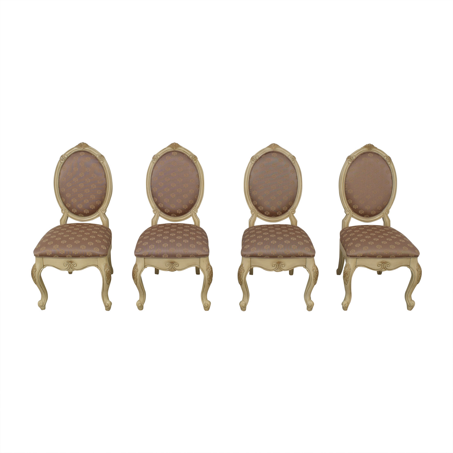 AICO AICO Michael Amini Set of Lavelle Blanc Side Chairs