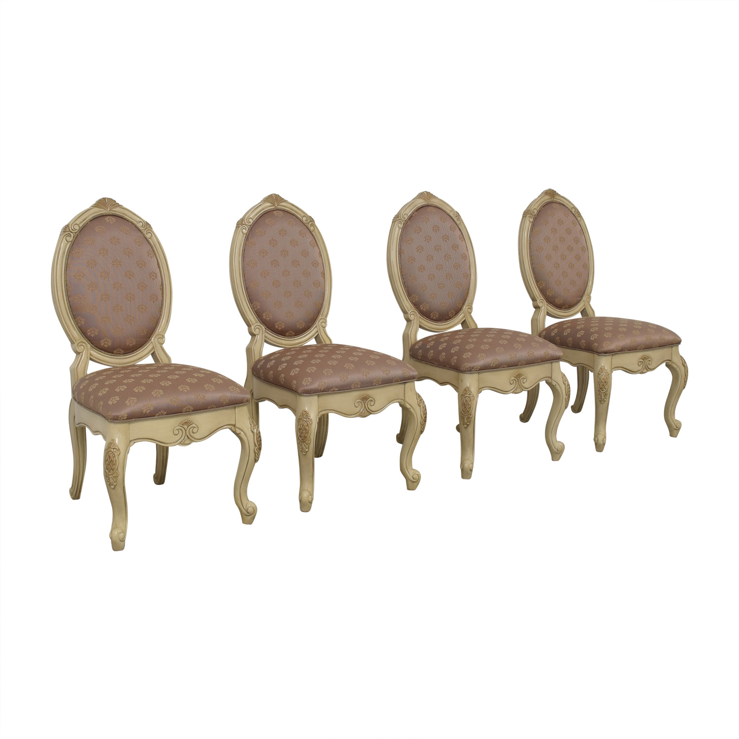 AICO Michael Amini Set of Lavelle Blanc Side Chairs sale