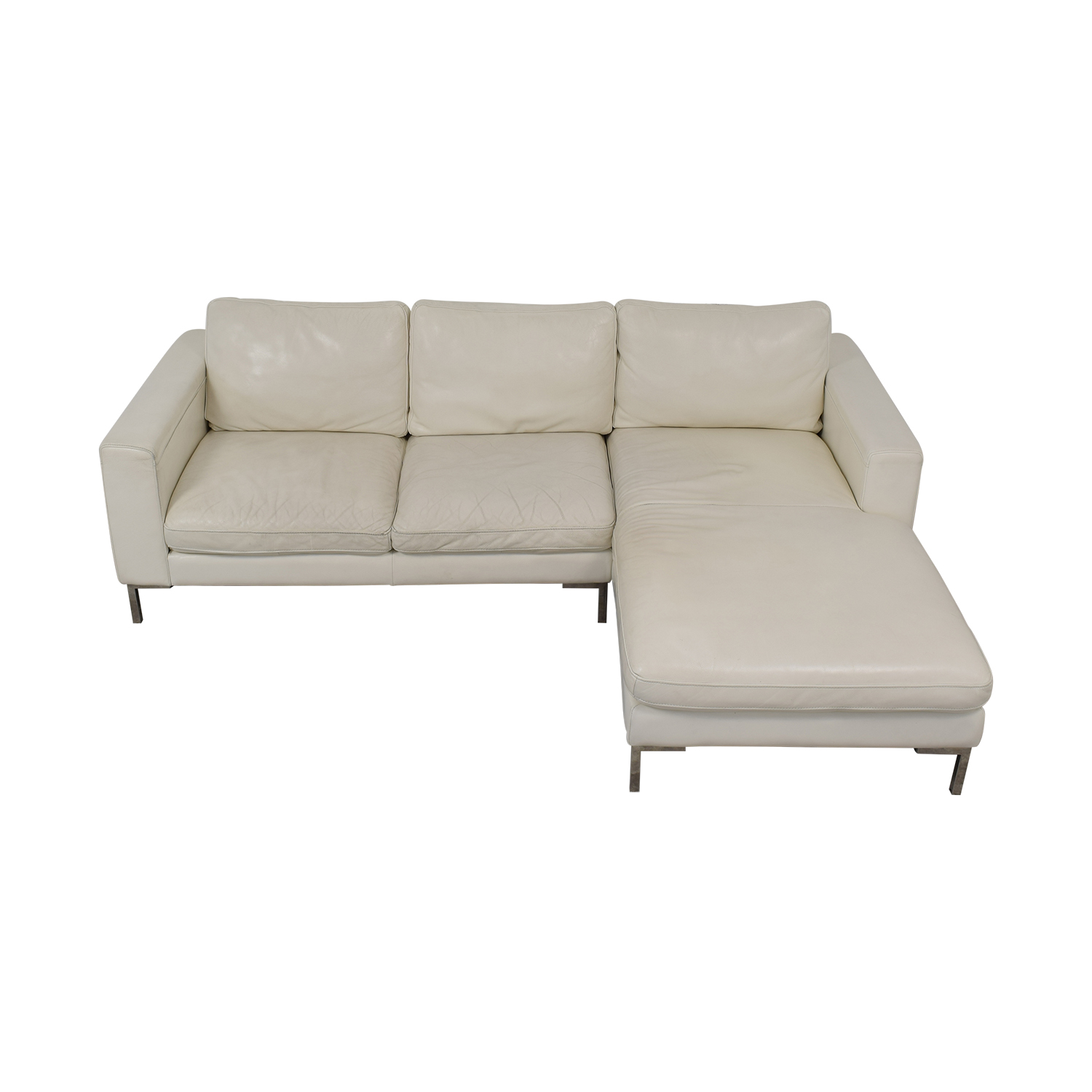77% OFF - Modern Chaise Sectional Sofa / Sofas