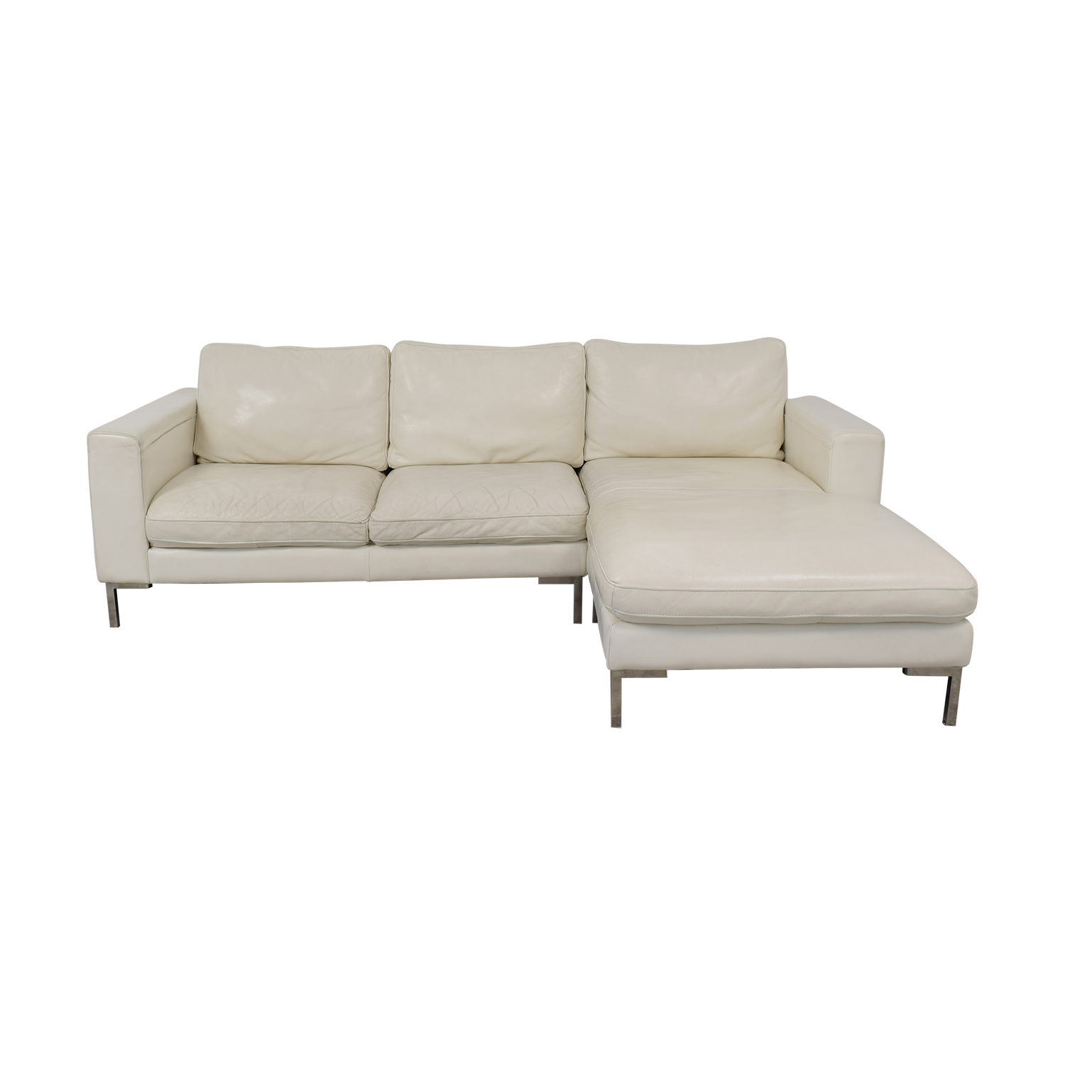 84% OFF - Modern Chaise Sectional Sofa / Sofas