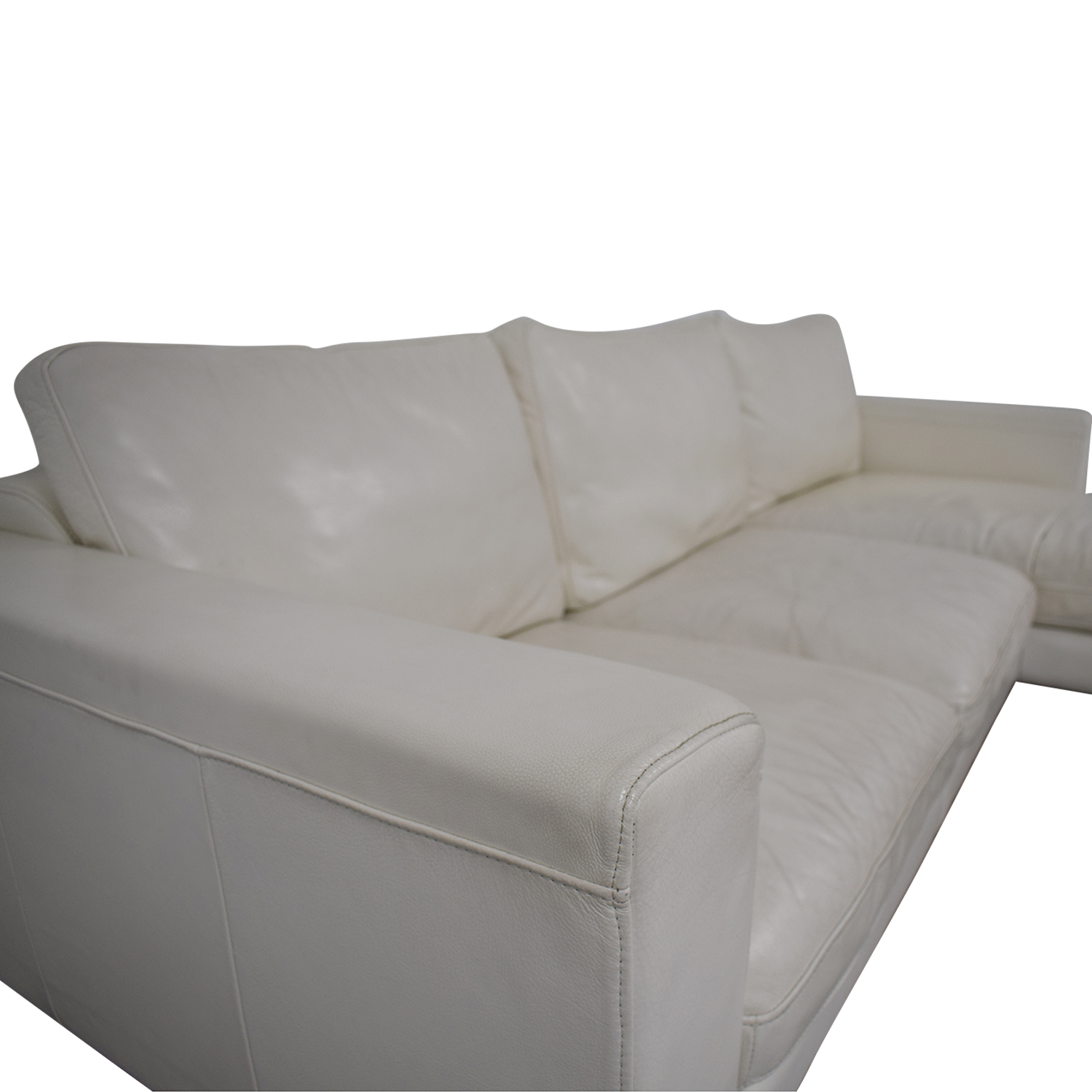 80% OFF - Modern Chaise Sectional Sofa / Sofas