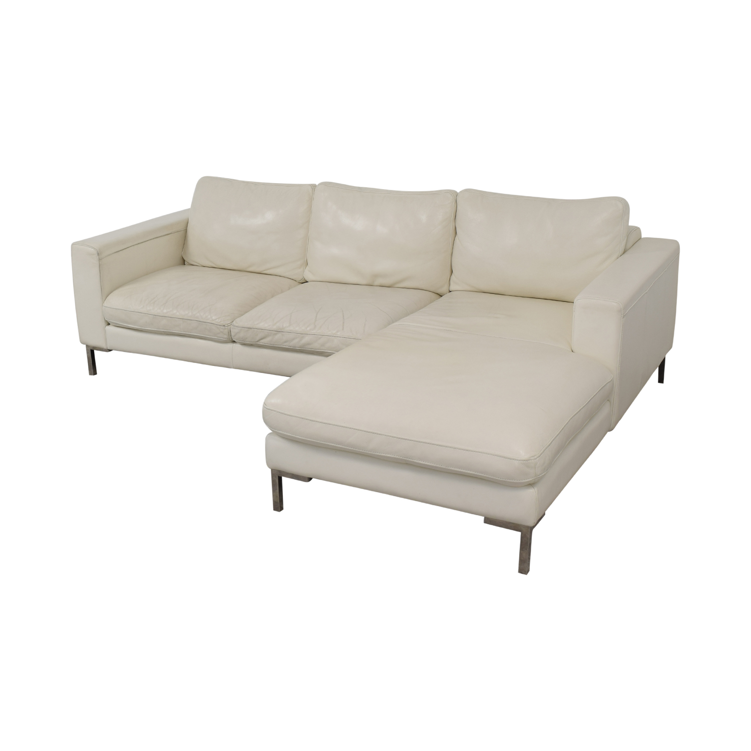 72% OFF - Modern Chaise Sectional Sofa / Sofas