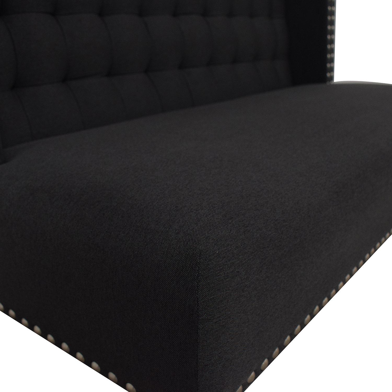 buy Tov Halifax Grey Linen Banquette Bench Tov