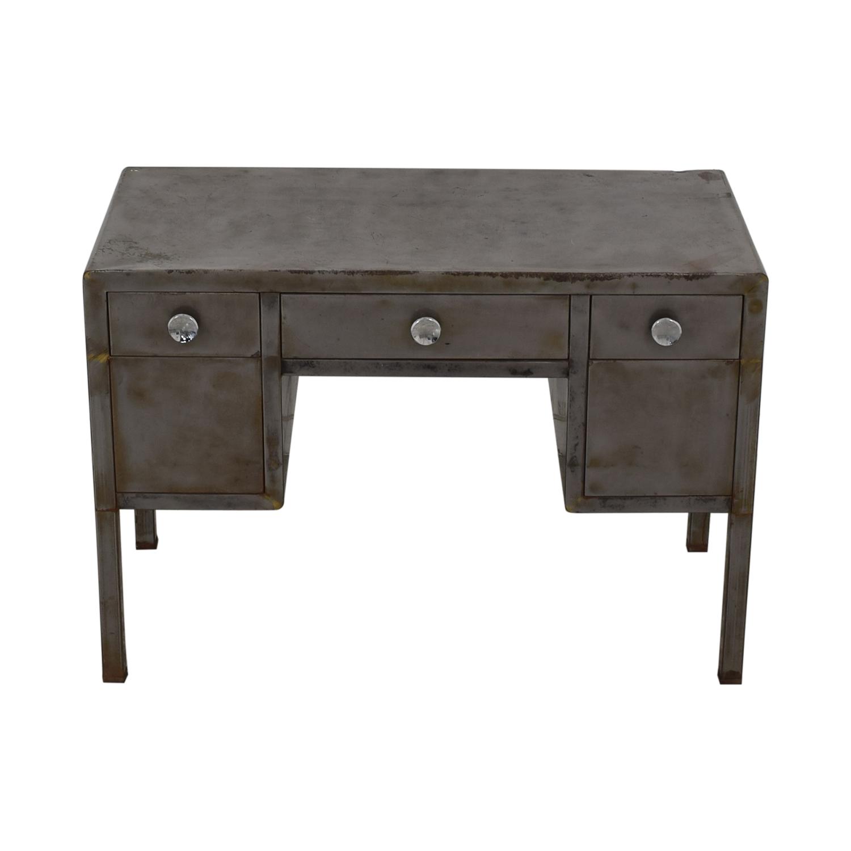 buy Industrial Three-Drawer Desk  Tables