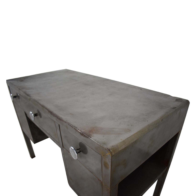 shop Industrial Three-Drawer Desk