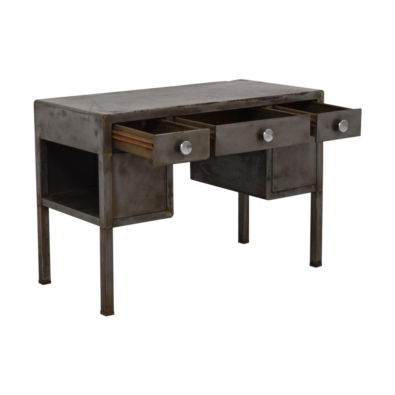 Industrial Three-Drawer Desk