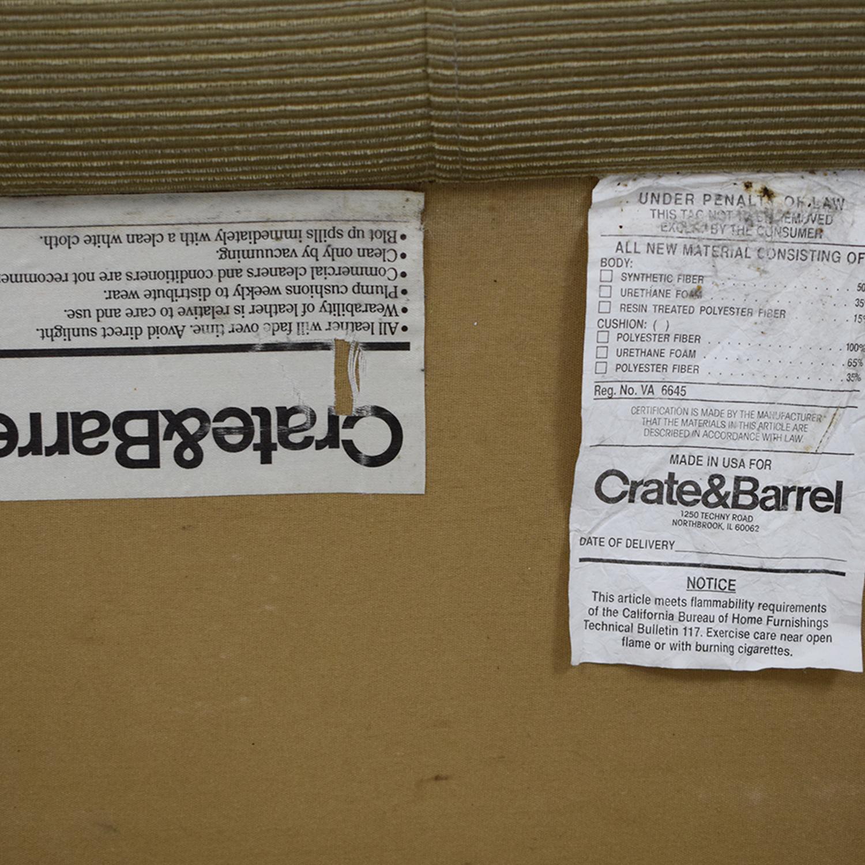 buy Crate & Barrel Rochelle Fabric Sofa Crate & Barrel Sofas