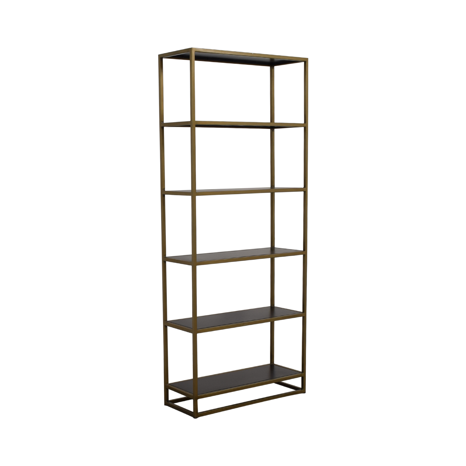 Crate & Barrel Crate & Barrel Brass Bookshelf on sale