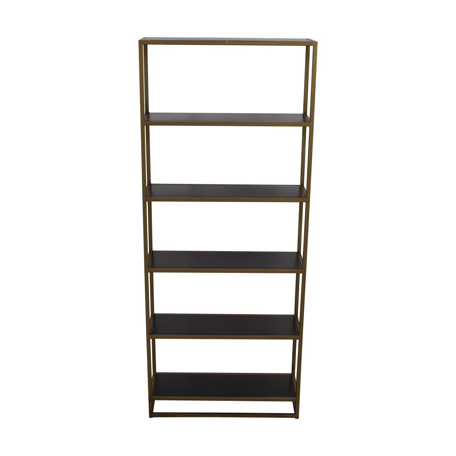 buy Crate & Barrel Brass Bookshelf Crate & Barrel Bookcases & Shelving