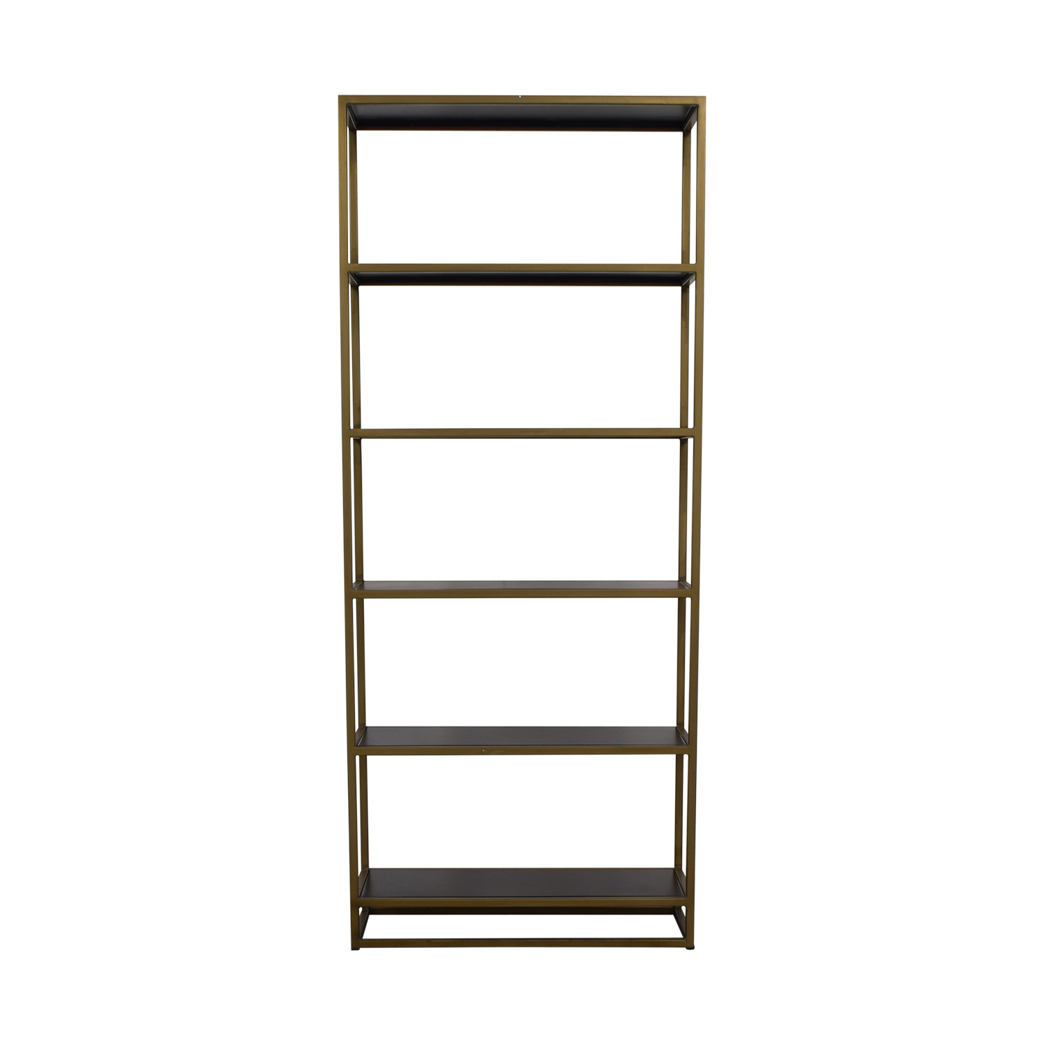 buy Crate & Barrel Brass Bookshelf Crate & Barrel