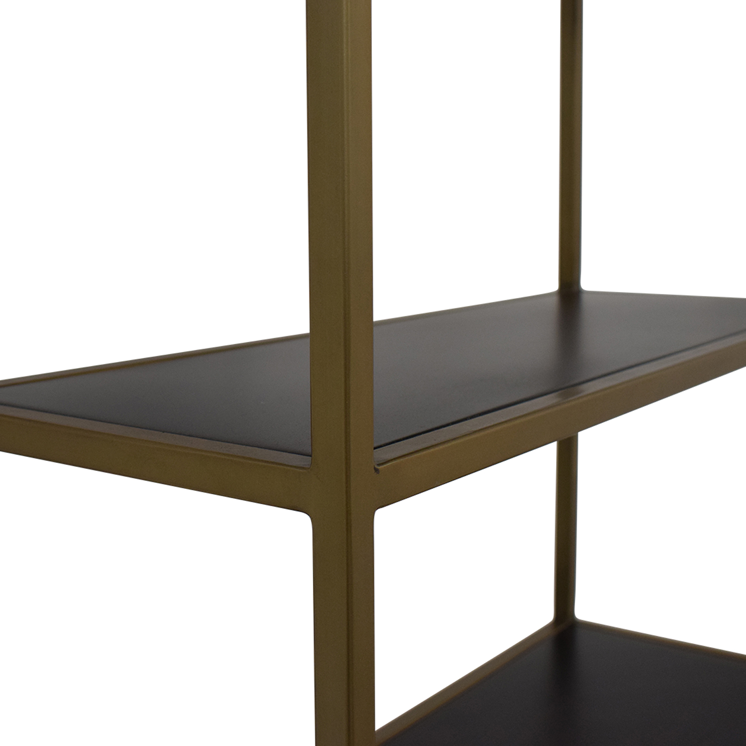 shop Crate & Barrel Brass Bookshelf Crate & Barrel Storage