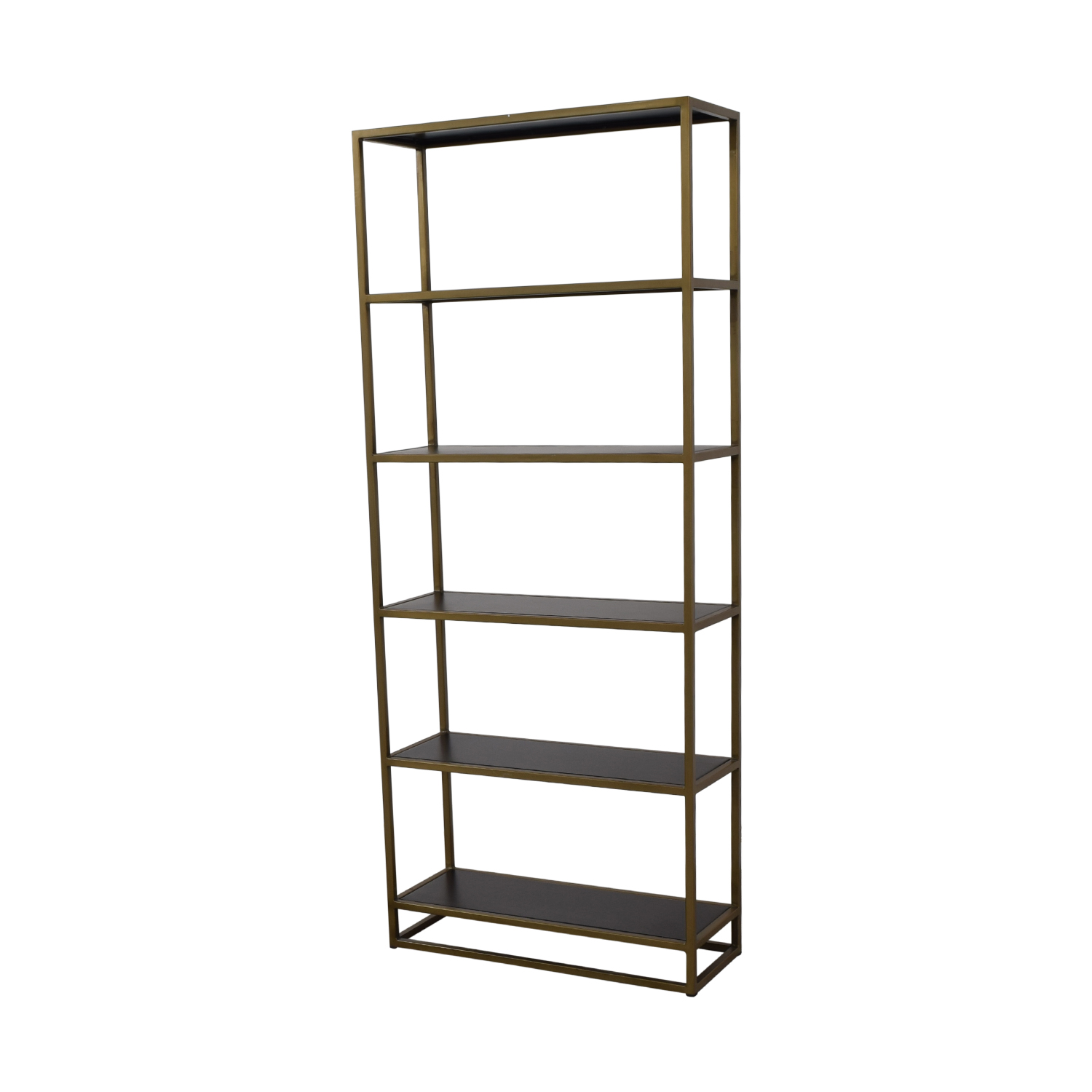 shop Crate & Barrel Brass Bookshelf Crate & Barrel