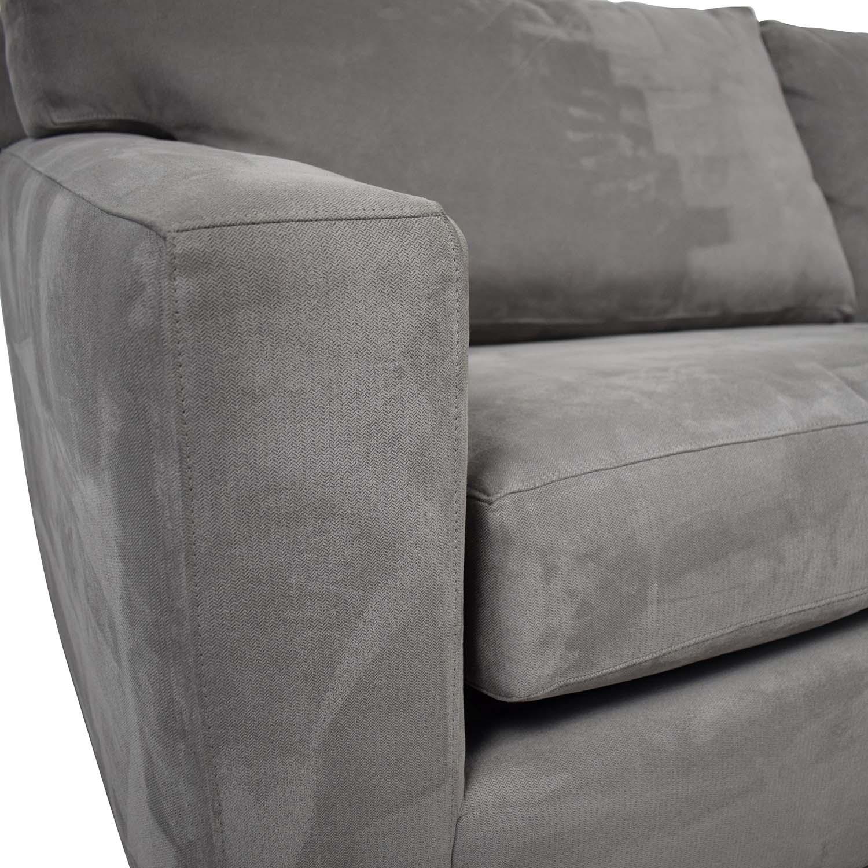 shop Crate & Barrel Crate & Barrel Axis II 2-Seat Queen Grey Sleeper Sofa online