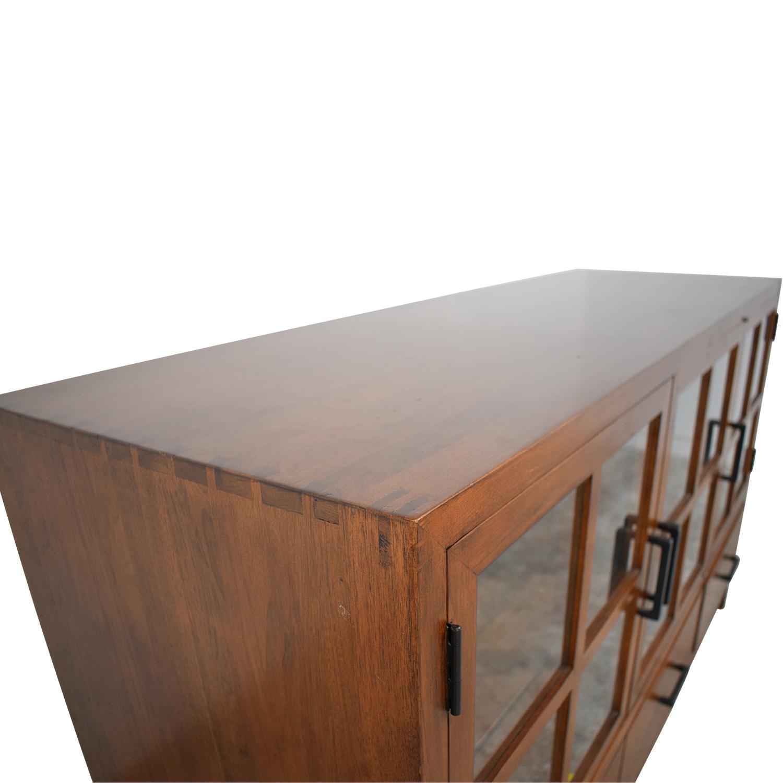 Crate & Barrel Crate & Barrel Sideboard with Glass Doors second hand