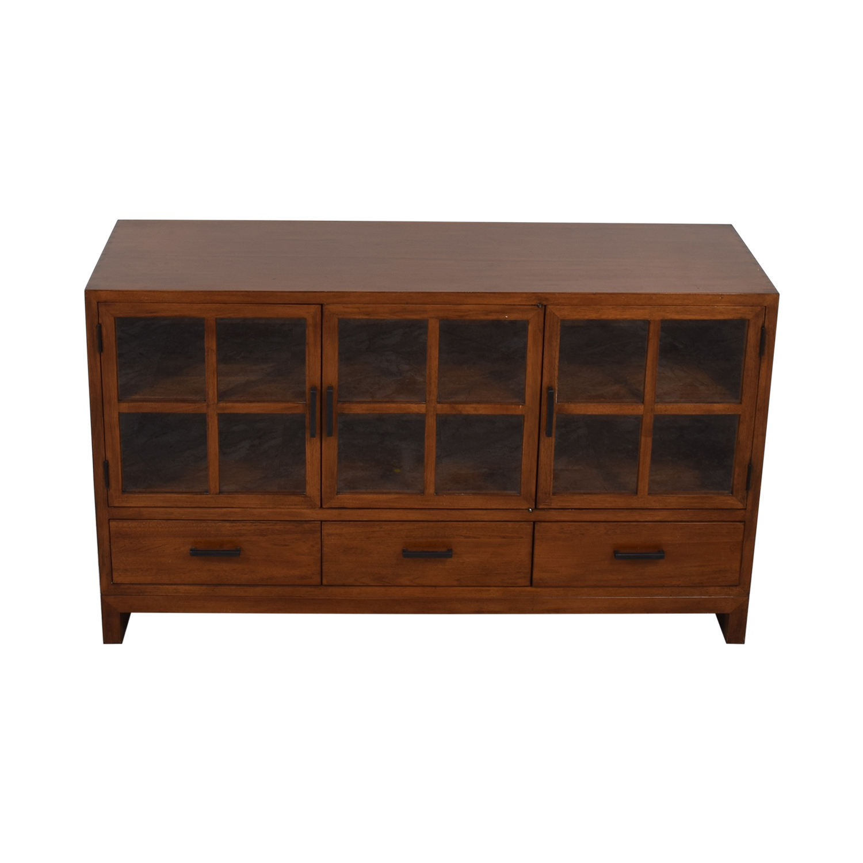 Crate & Barrel Crate & Barrel Sideboard with Glass Doors price